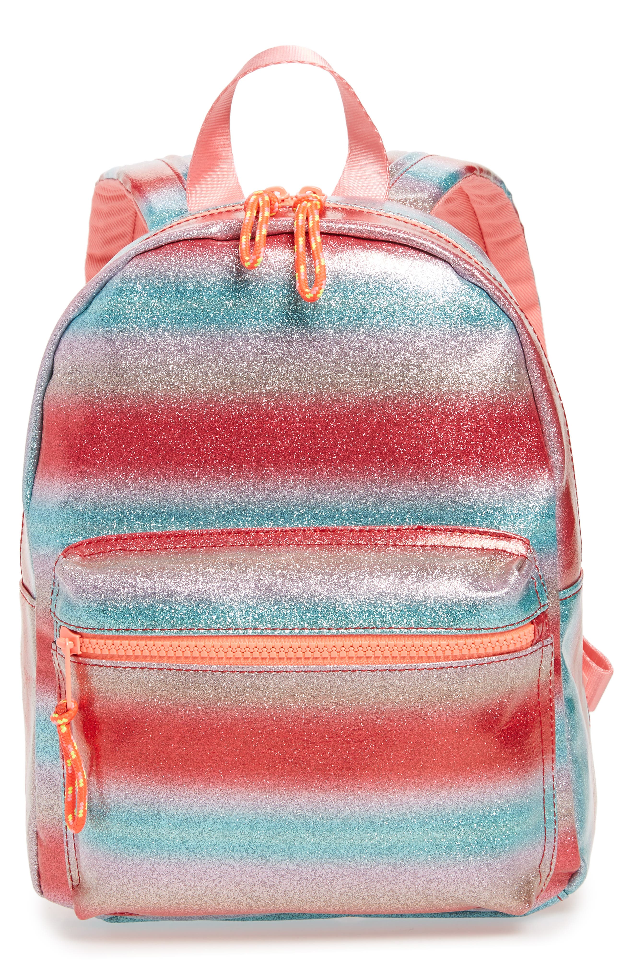 Glitter Mini Backpack,                             Main thumbnail 1, color,                             RAINBOW