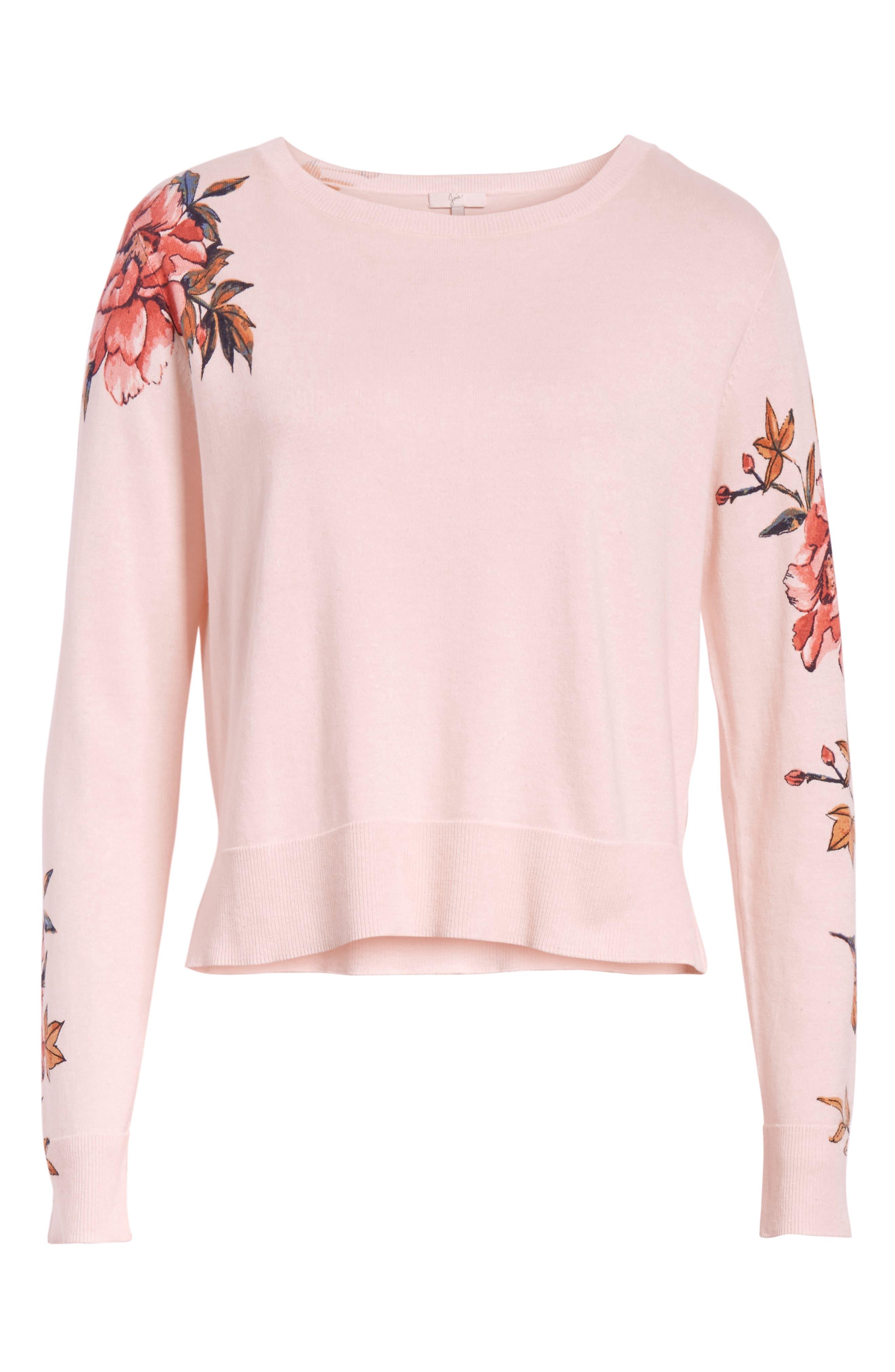 Paari Silk & Cashmere Sweater,                             Alternate thumbnail 6, color,