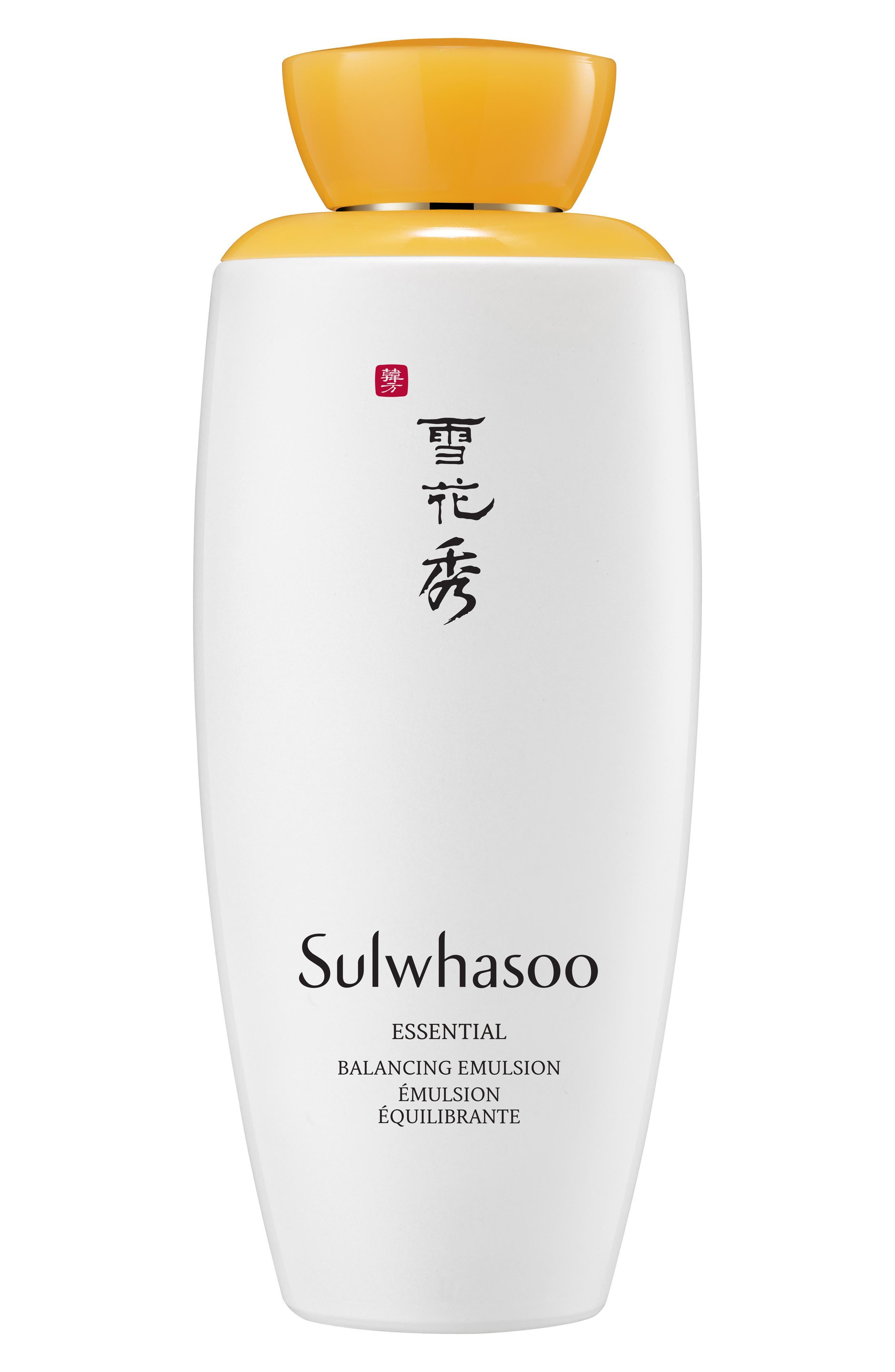 SULWHASOO,                             Essential Balancing Emulsion,                             Main thumbnail 1, color,                             NO COLOR