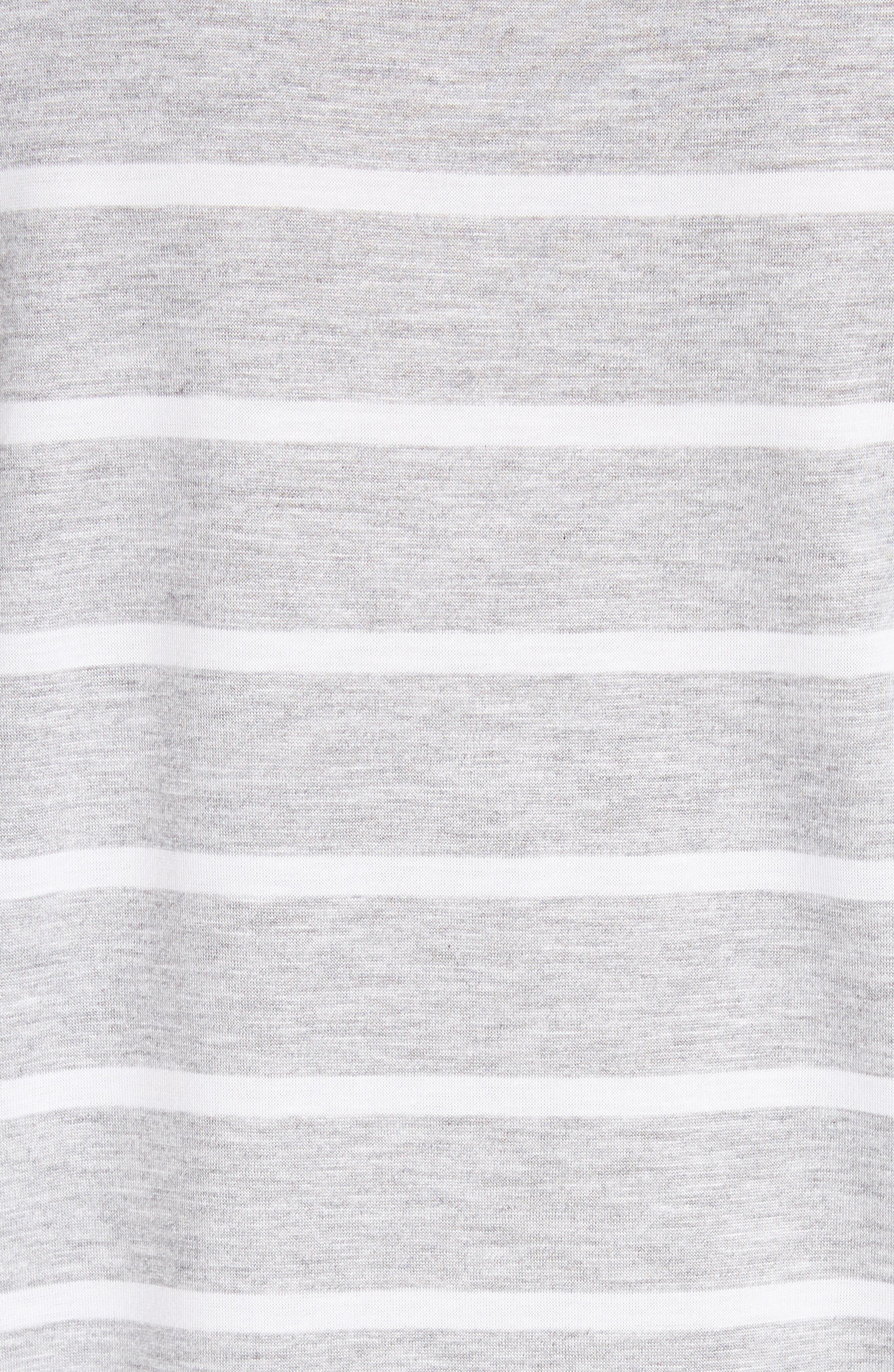 Kristen Stripe Tee,                             Alternate thumbnail 5, color,                             GREY HEATHER/ WHITE