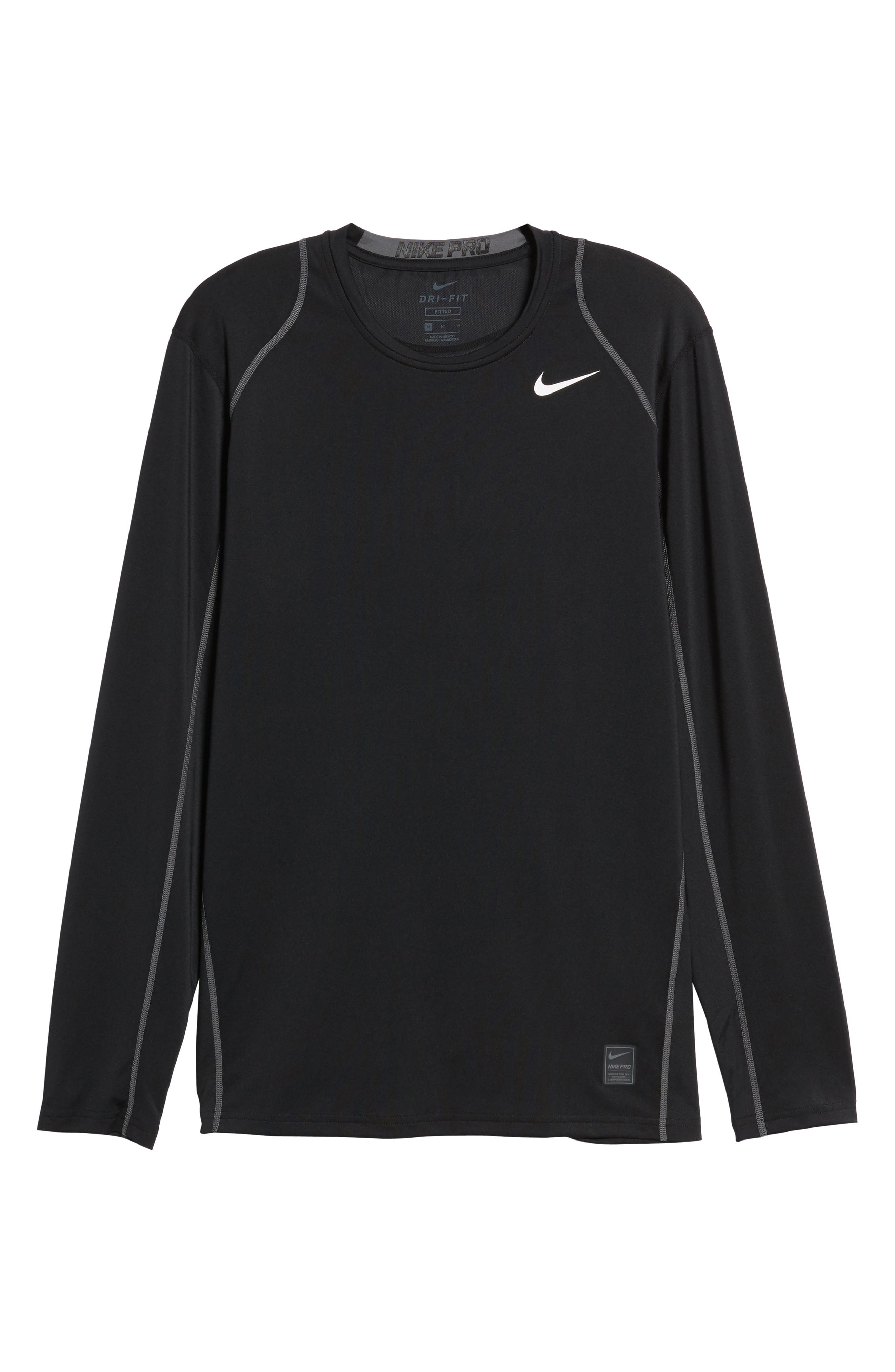 'Pro Coo' Fitted Long Sleeve Dri-FIT T-Shirt,                             Alternate thumbnail 2, color,                             010