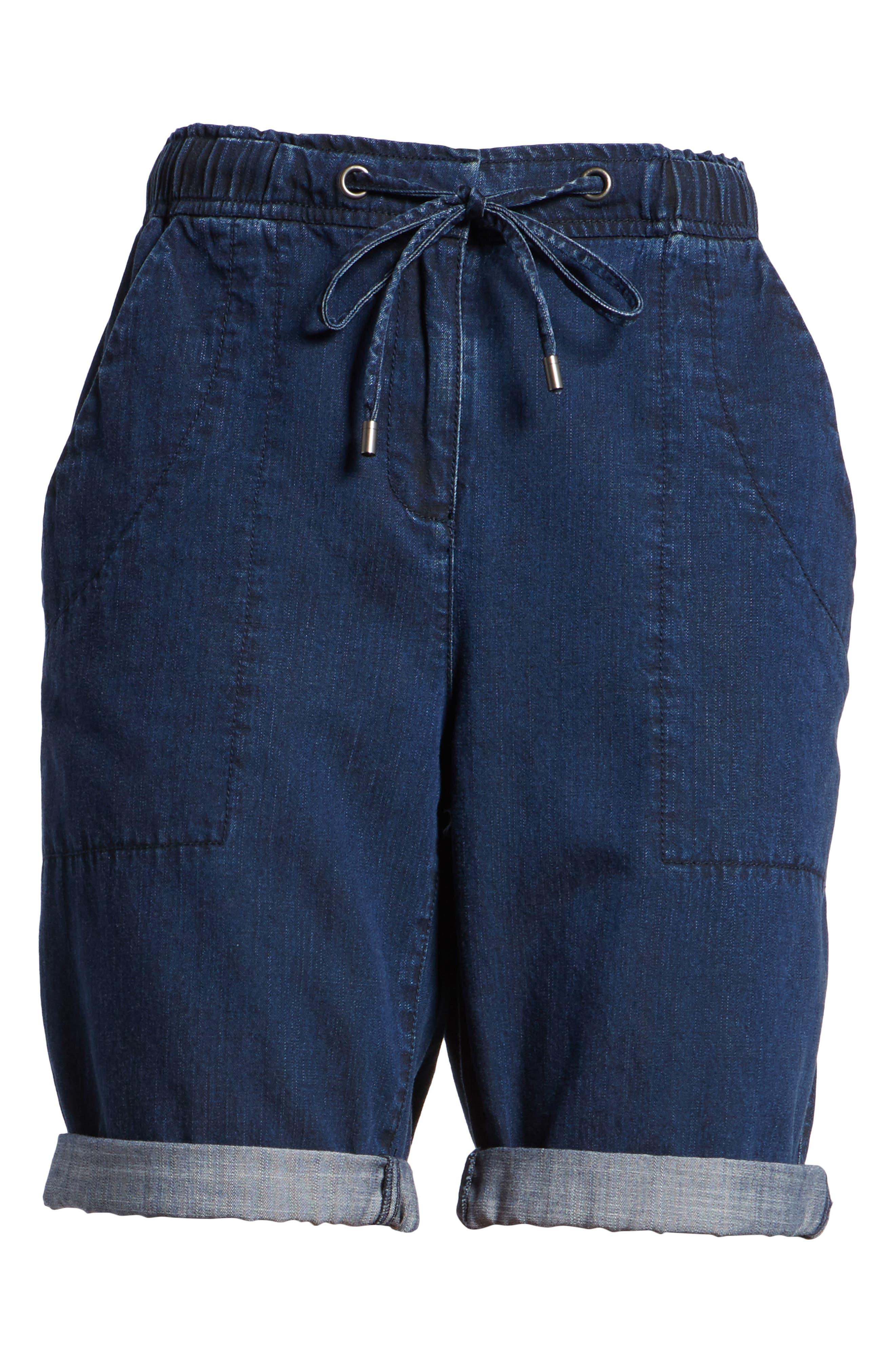 Tencel<sup>®</sup> Lyocell & Organic Cotton Walking Shorts,                             Alternate thumbnail 6, color,                             419
