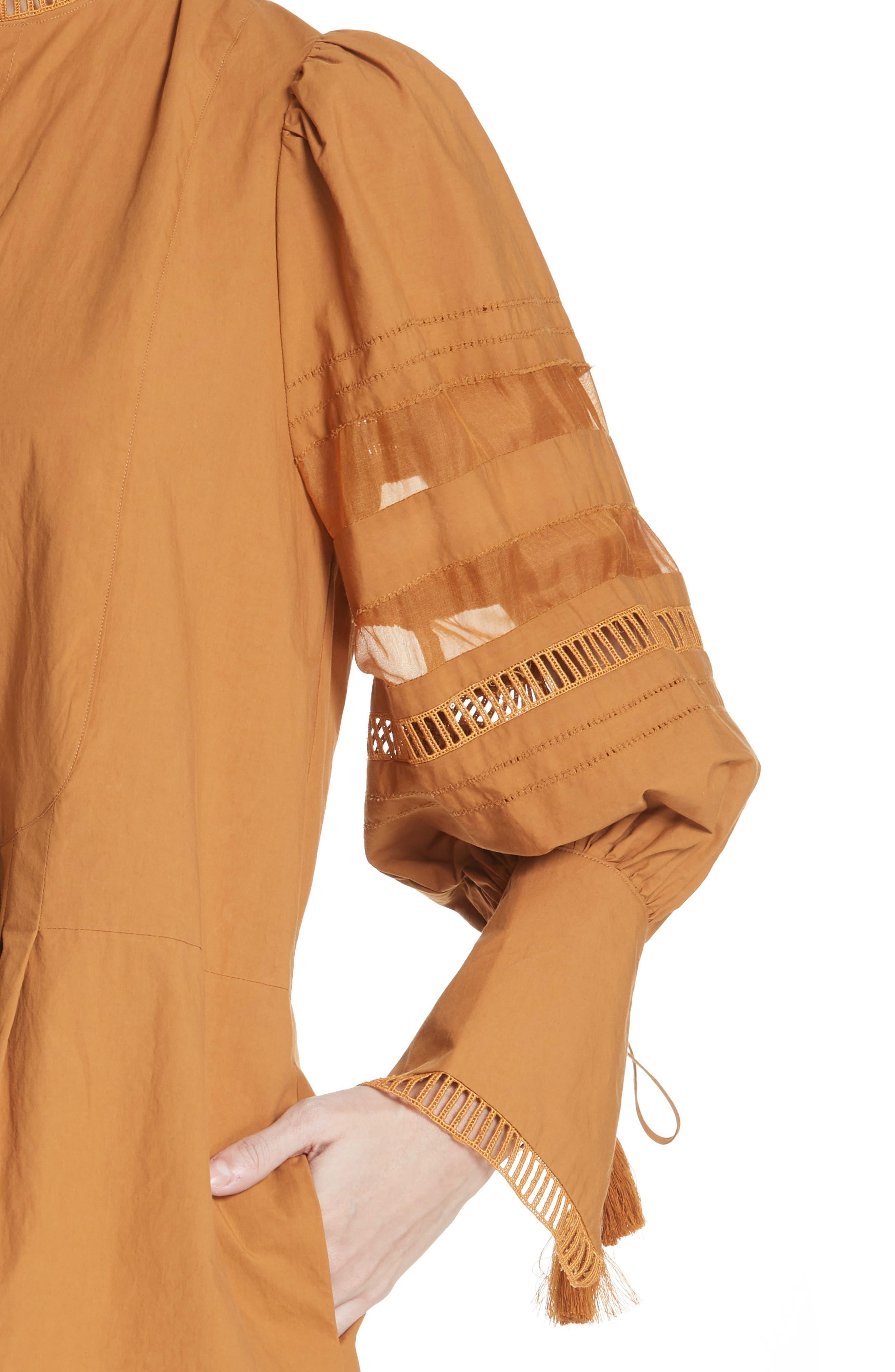 Capri Ladder Stitch Trim Dress,                             Alternate thumbnail 4, color,                             205