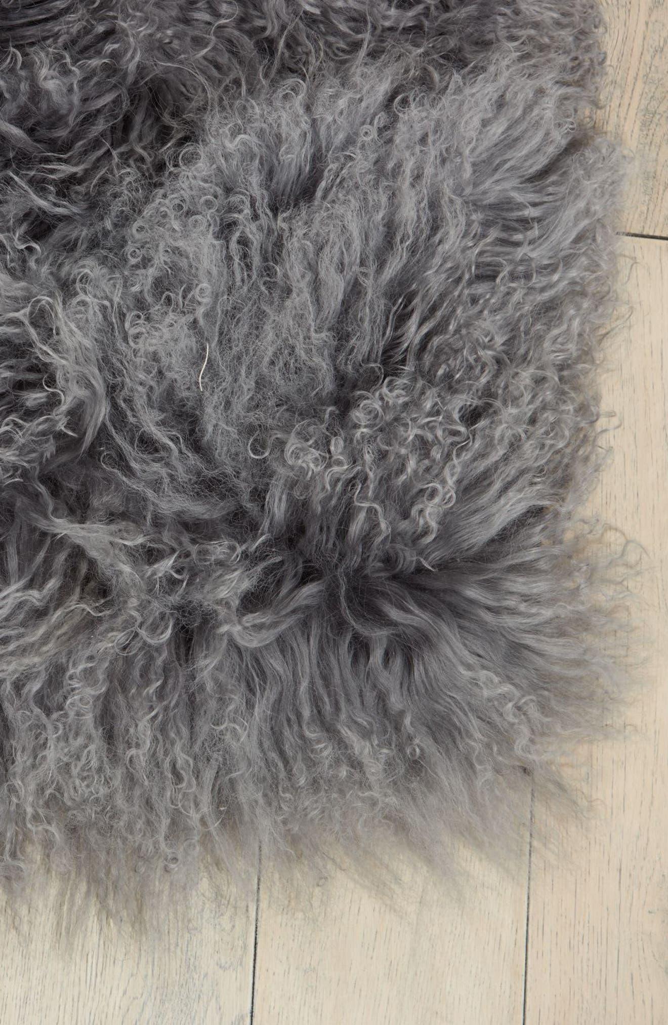 Moritz Matterhorn Genuine Shearling Area Rug,                             Alternate thumbnail 2, color,                             020