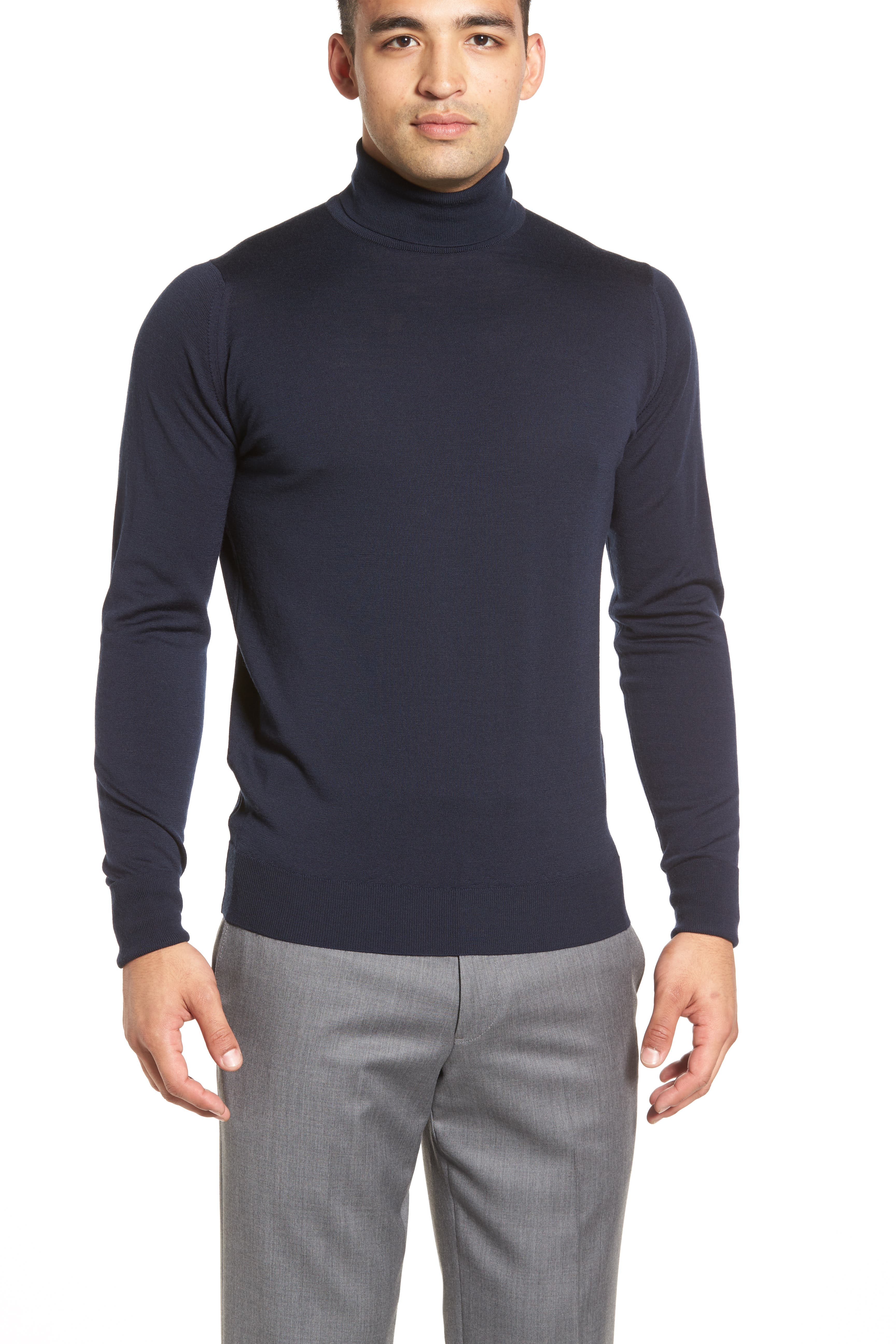 'Richards' Easy Fit Turtleneck Wool Sweater,                             Alternate thumbnail 23, color,