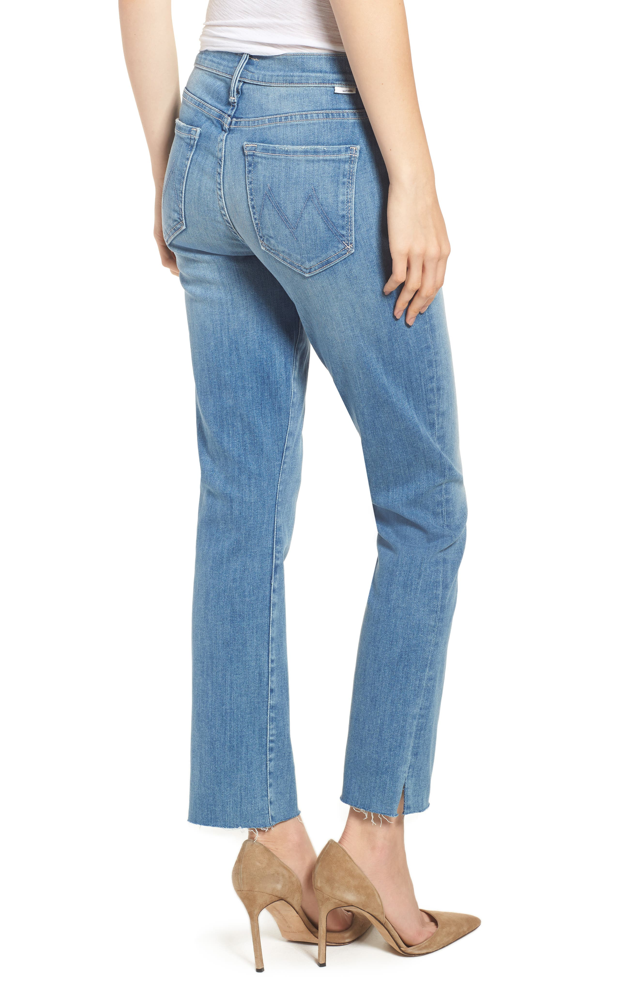 MOTHER,                             The Rascal Ankle Snippet Straight Leg Jeans,                             Alternate thumbnail 2, color,                             400