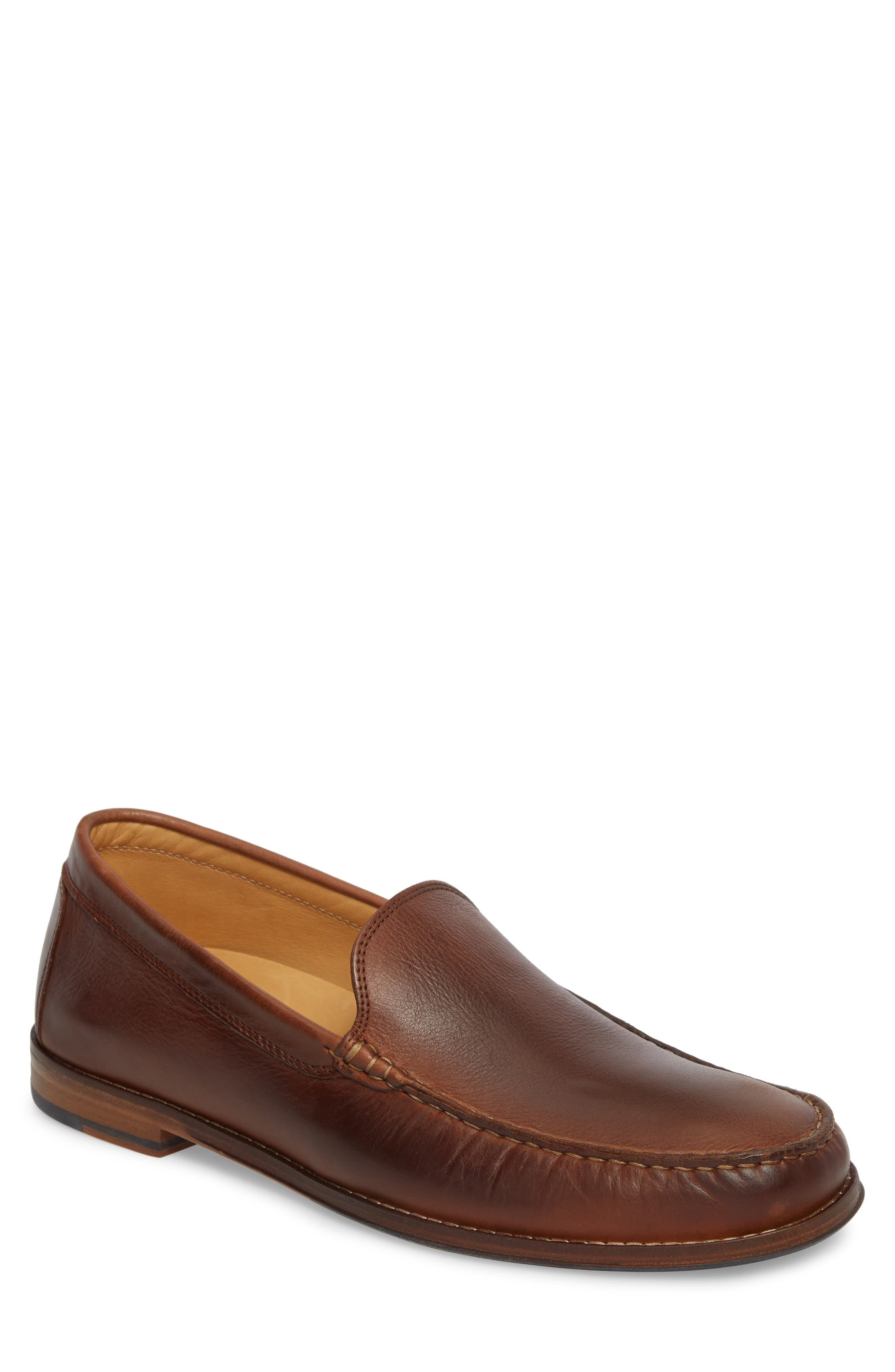 Caldwells Loafer,                             Main thumbnail 1, color,                             LIGHT BROWN DISTRESSED LEATHER