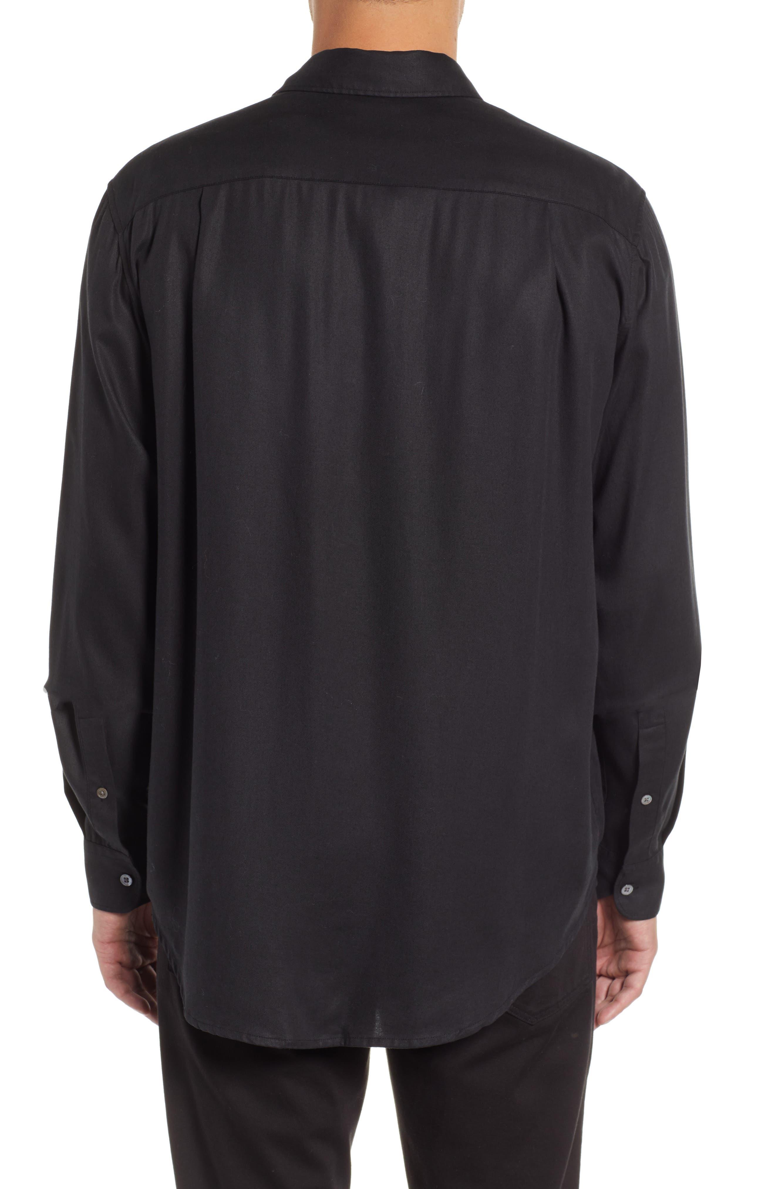Air Clean Regular Fit Sport Shirt,                             Alternate thumbnail 3, color,                             BLACK