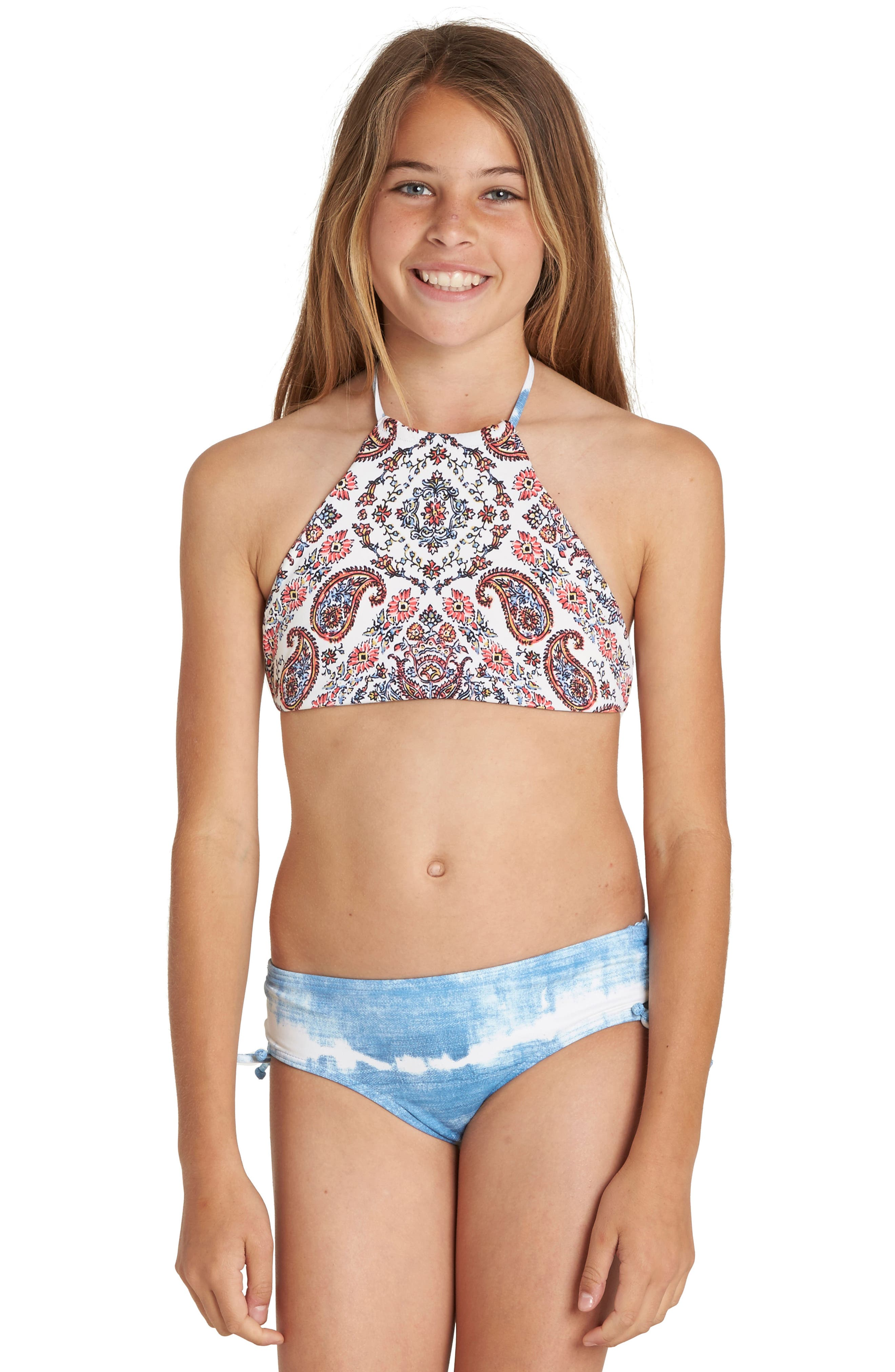 Lil Bliss Two-Piece Halter Swimsuit,                             Main thumbnail 1, color,