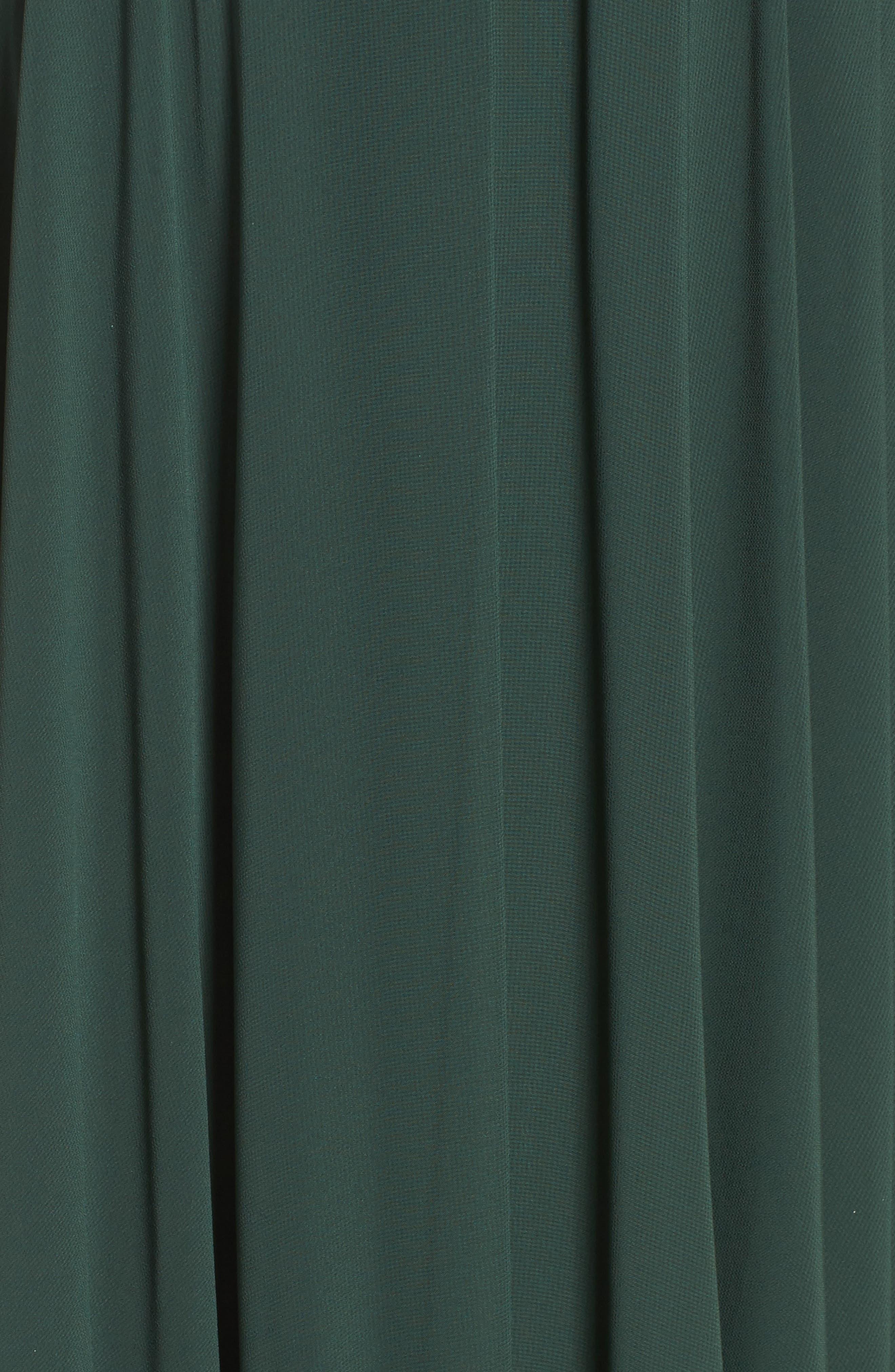 Cassie Flutter Sleeve Chiffon A-Line Gown,                             Alternate thumbnail 5, color,                             308