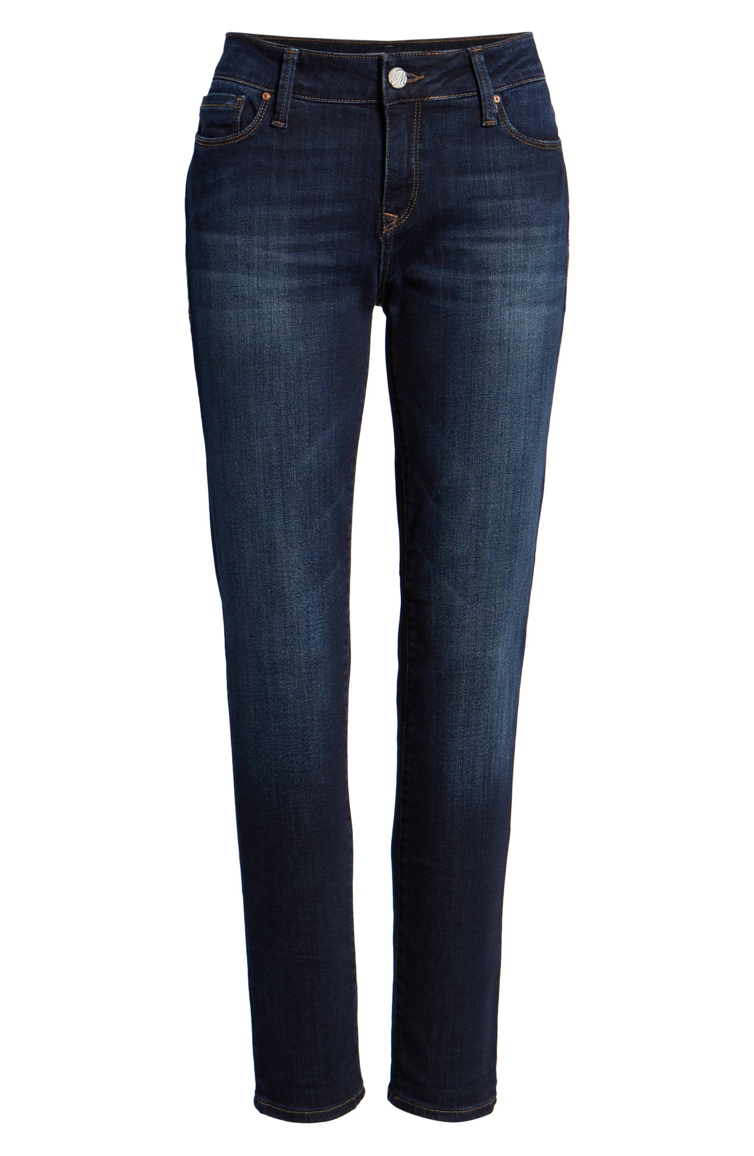 Ada Boyfriend Jeans,                             Alternate thumbnail 7, color,                             INDIGO BRUSHED