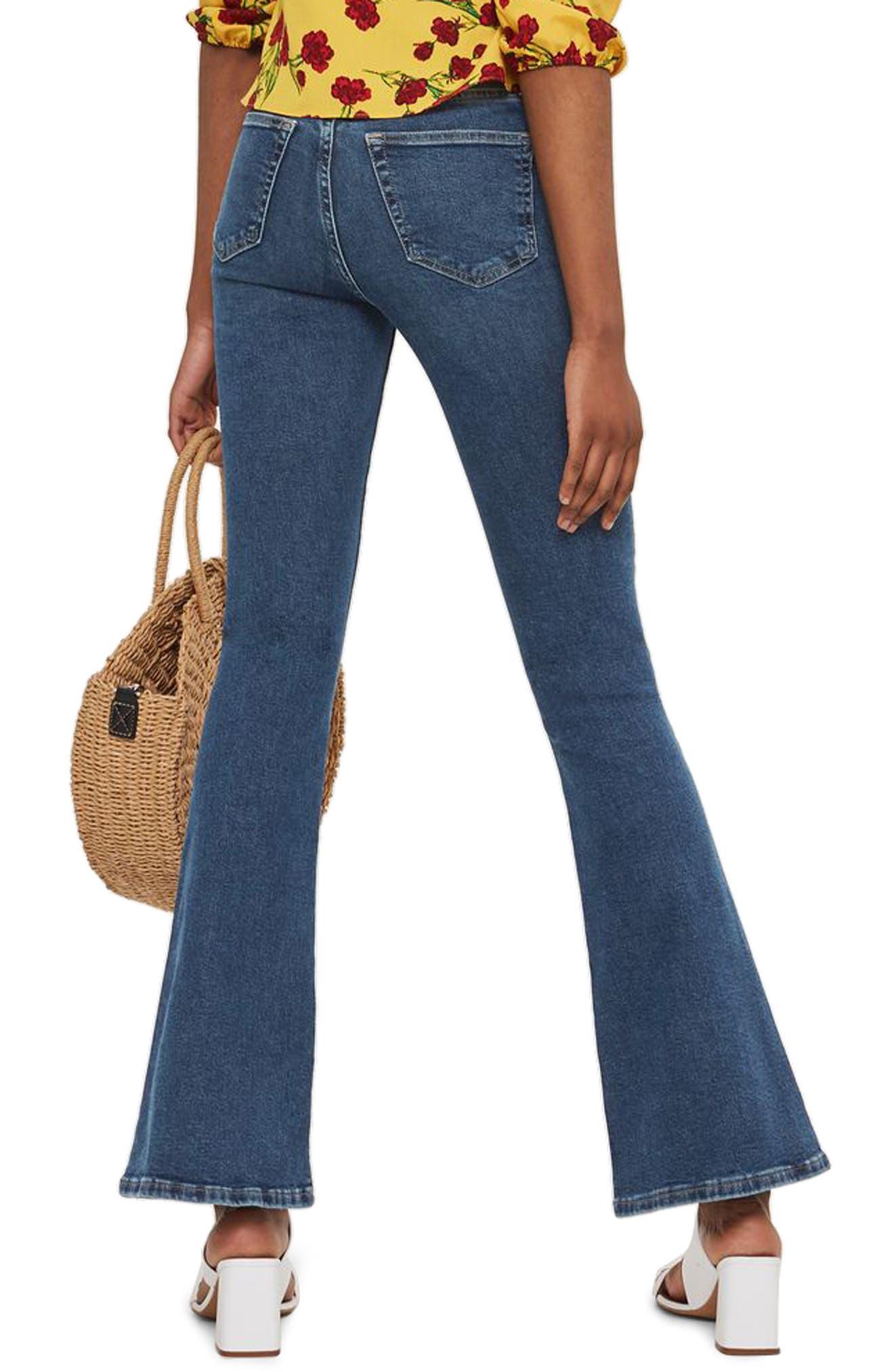 Jamie Flare Jeans,                             Alternate thumbnail 2, color,                             INDIGO