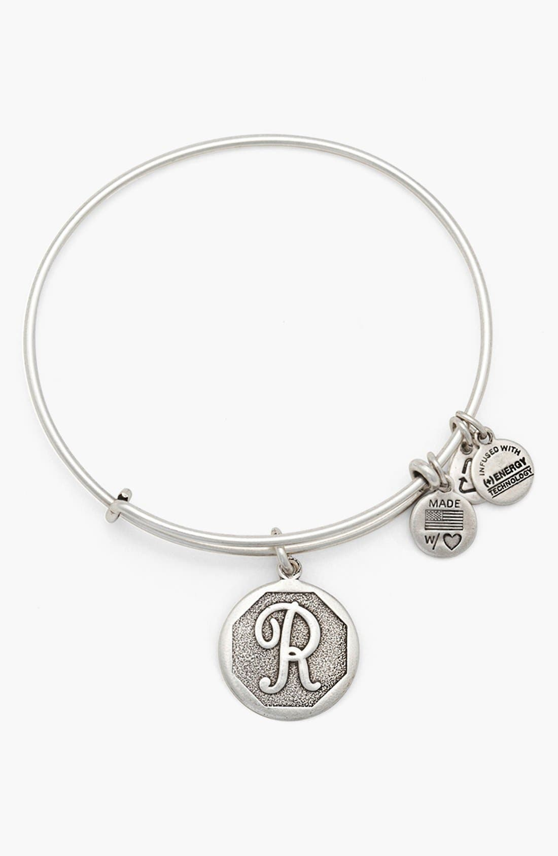 'Initial' Adjustable Wire Bangle,                             Main thumbnail 18, color,