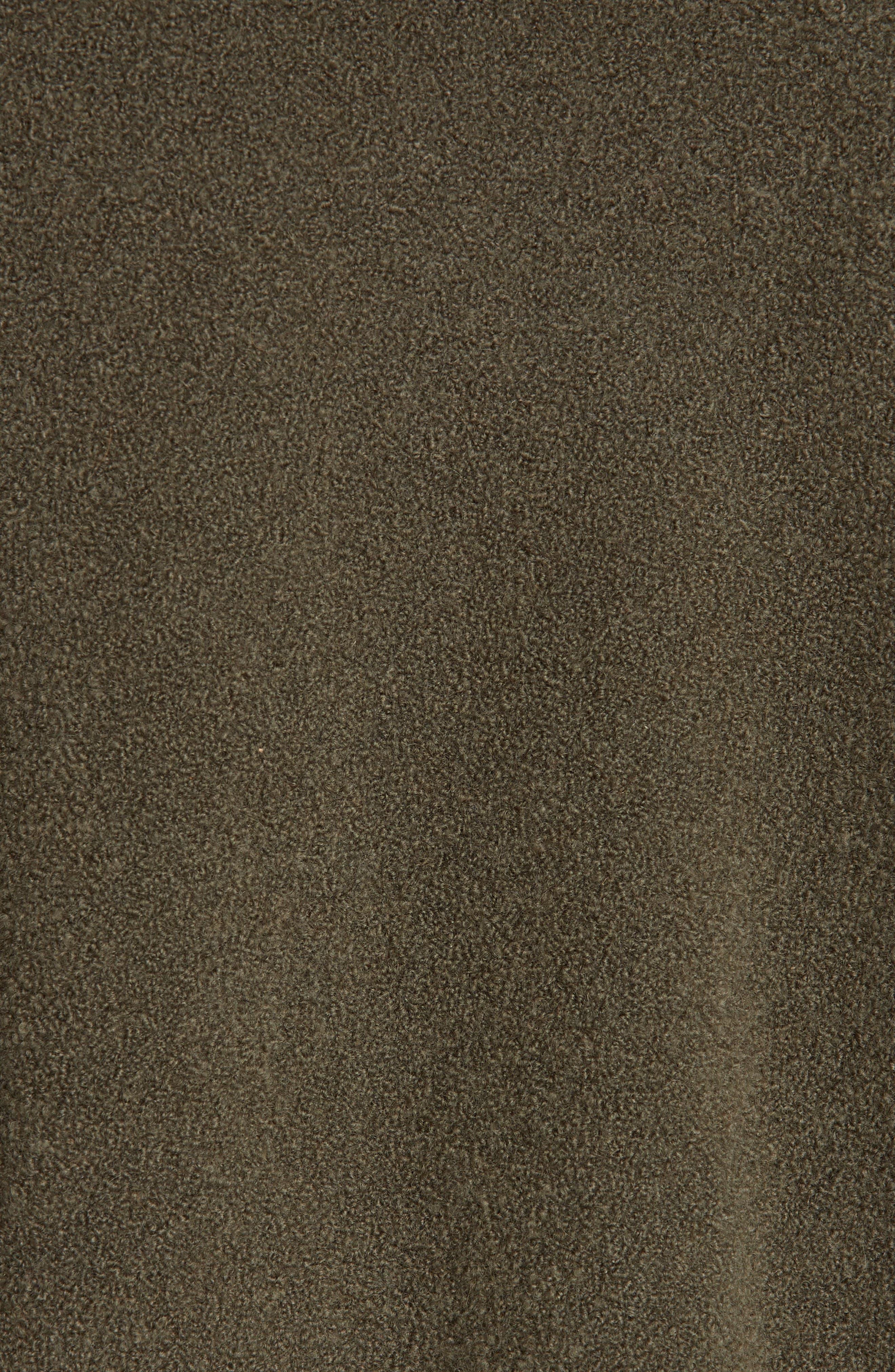 Cashmere Blend Bouclé Sweater,                             Alternate thumbnail 5, color,                             OLIVE IVY HEATHER