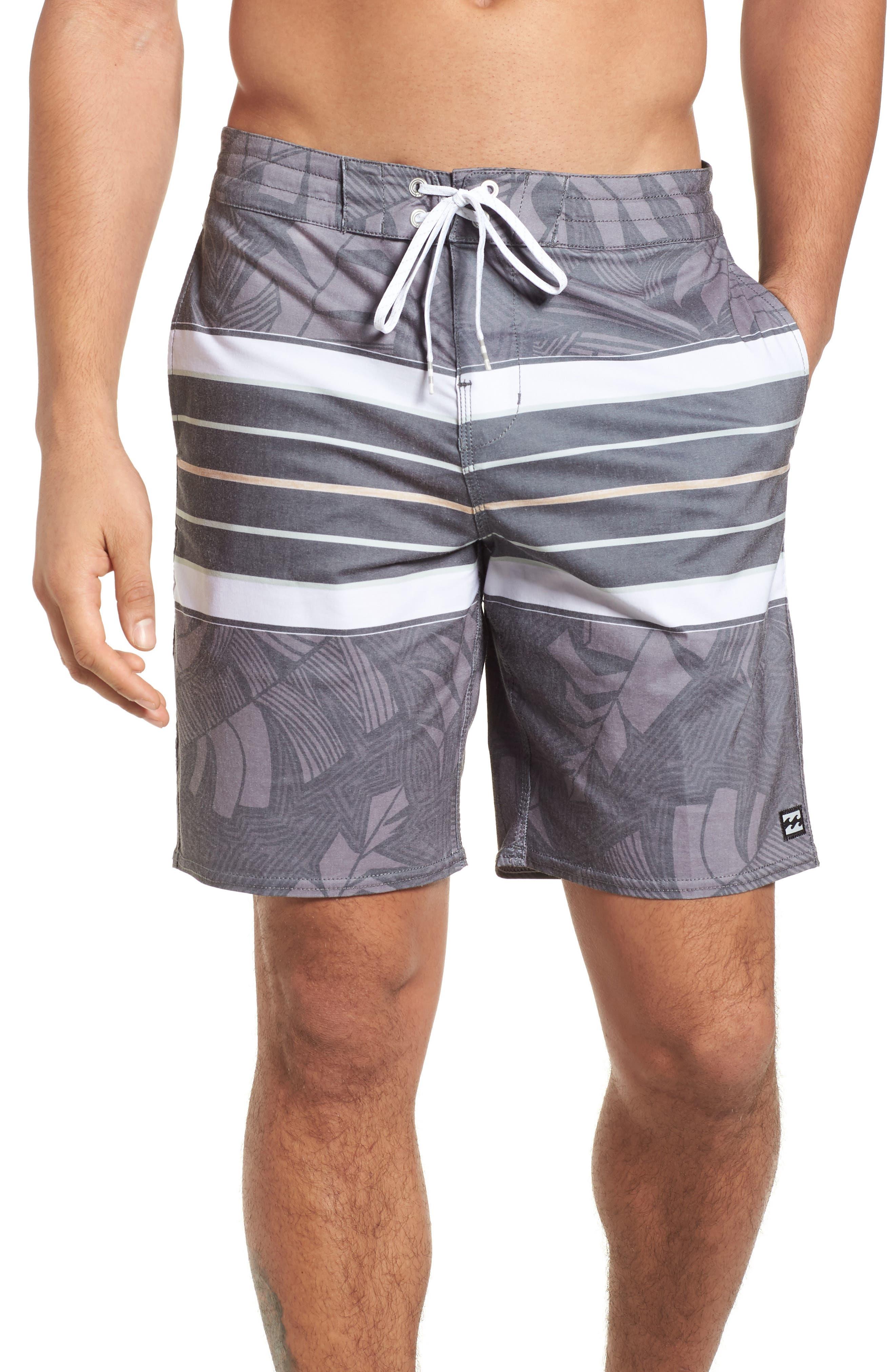 Stringer Lo Tides Board Shorts,                             Main thumbnail 1, color,                             001