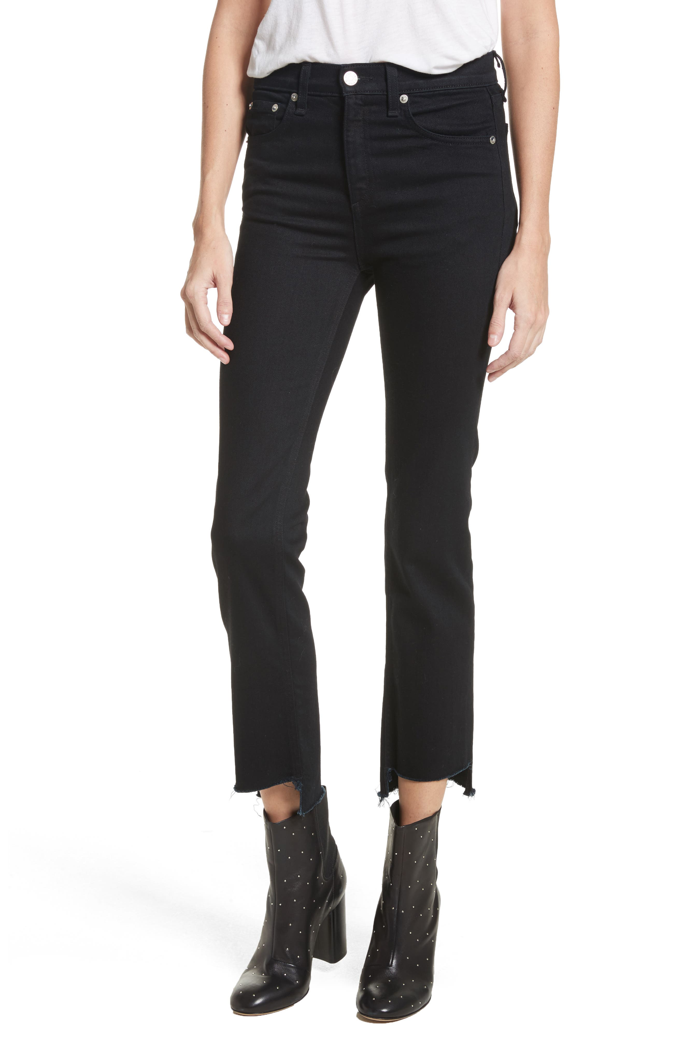 High Waist Stovepipe Jeans,                             Main thumbnail 1, color,                             001