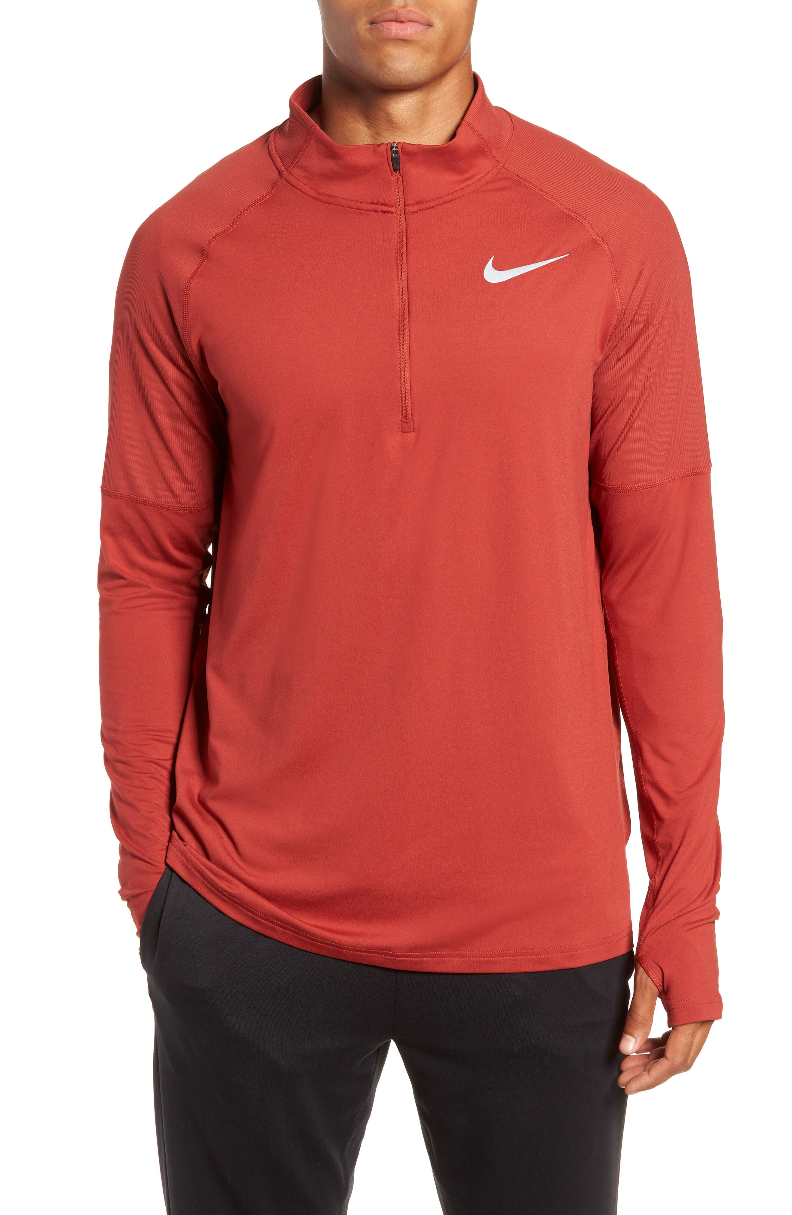 NIKE,                             Element HZ 2.0 Performance Pullover,                             Main thumbnail 1, color,                             DUNE RED