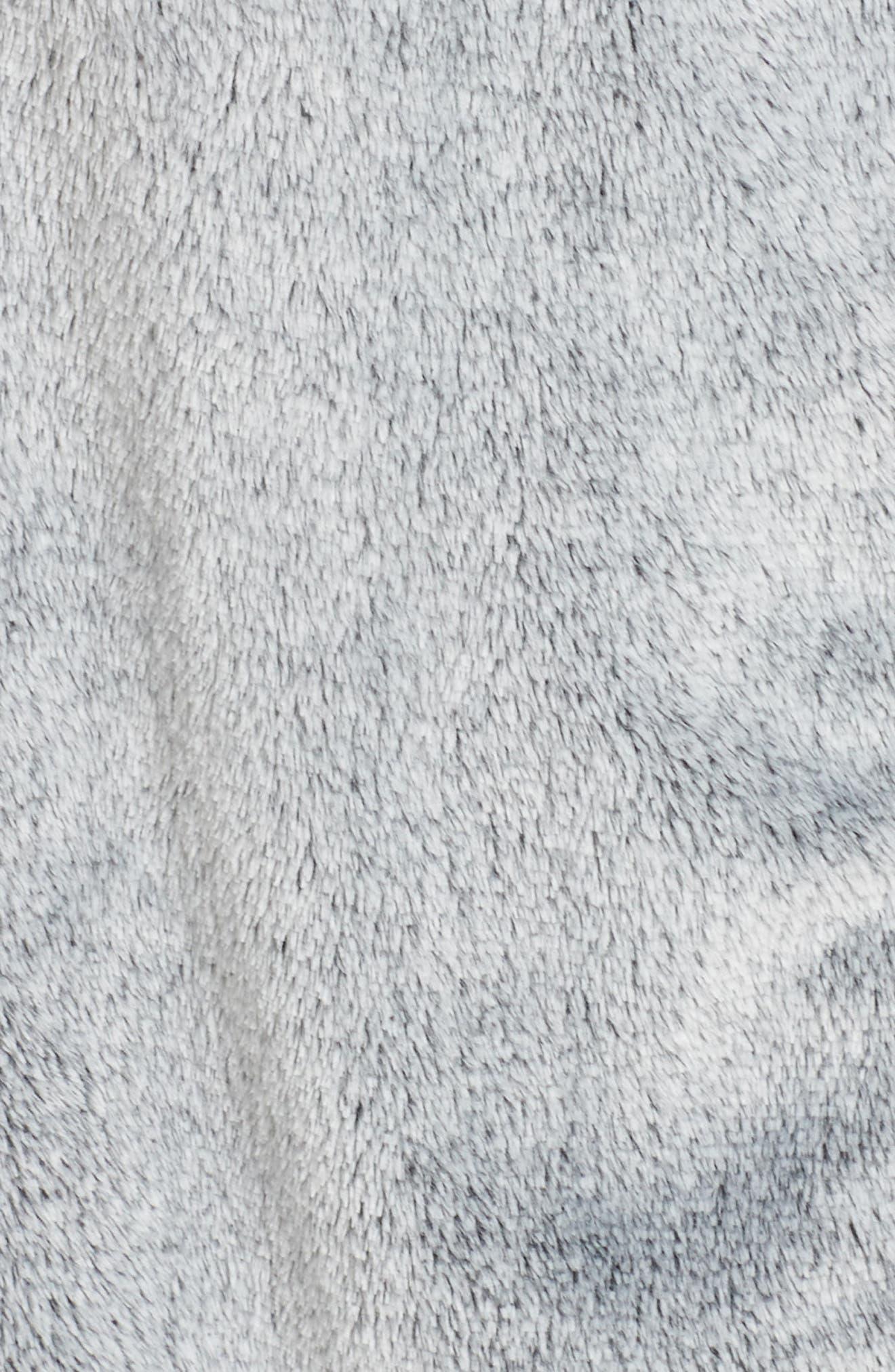 Plush Velour Robe,                             Alternate thumbnail 5, color,                             BLACK