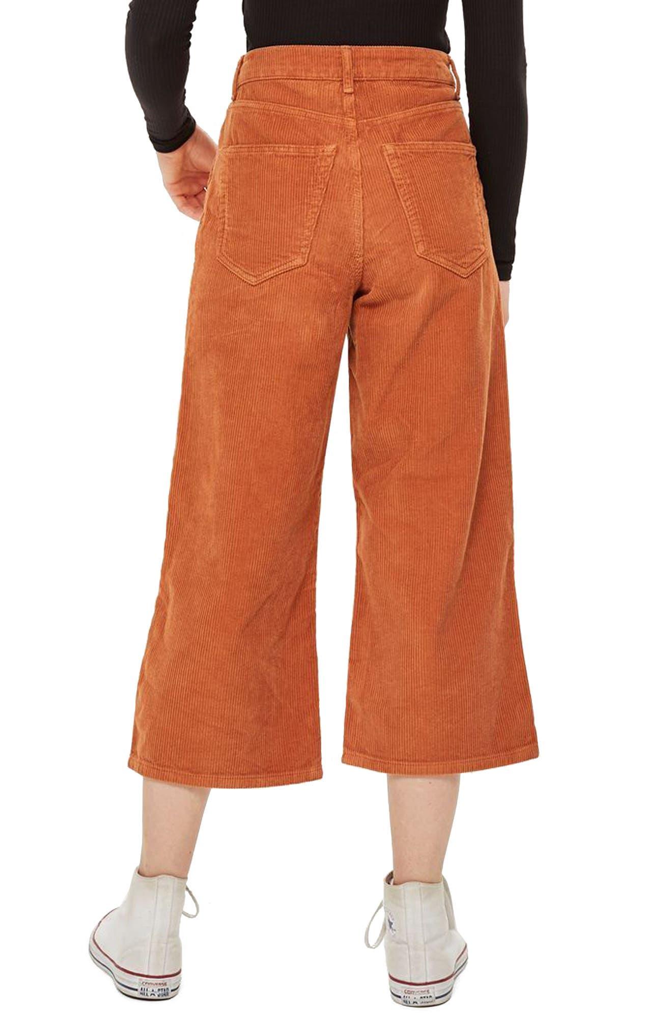 TOPSHOP,                             Wide Leg Corduroy Trousers,                             Alternate thumbnail 2, color,                             210