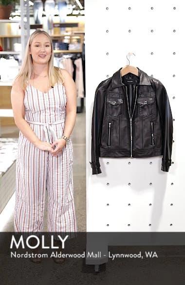 Esther Leather Trucker Jacket, sales video thumbnail