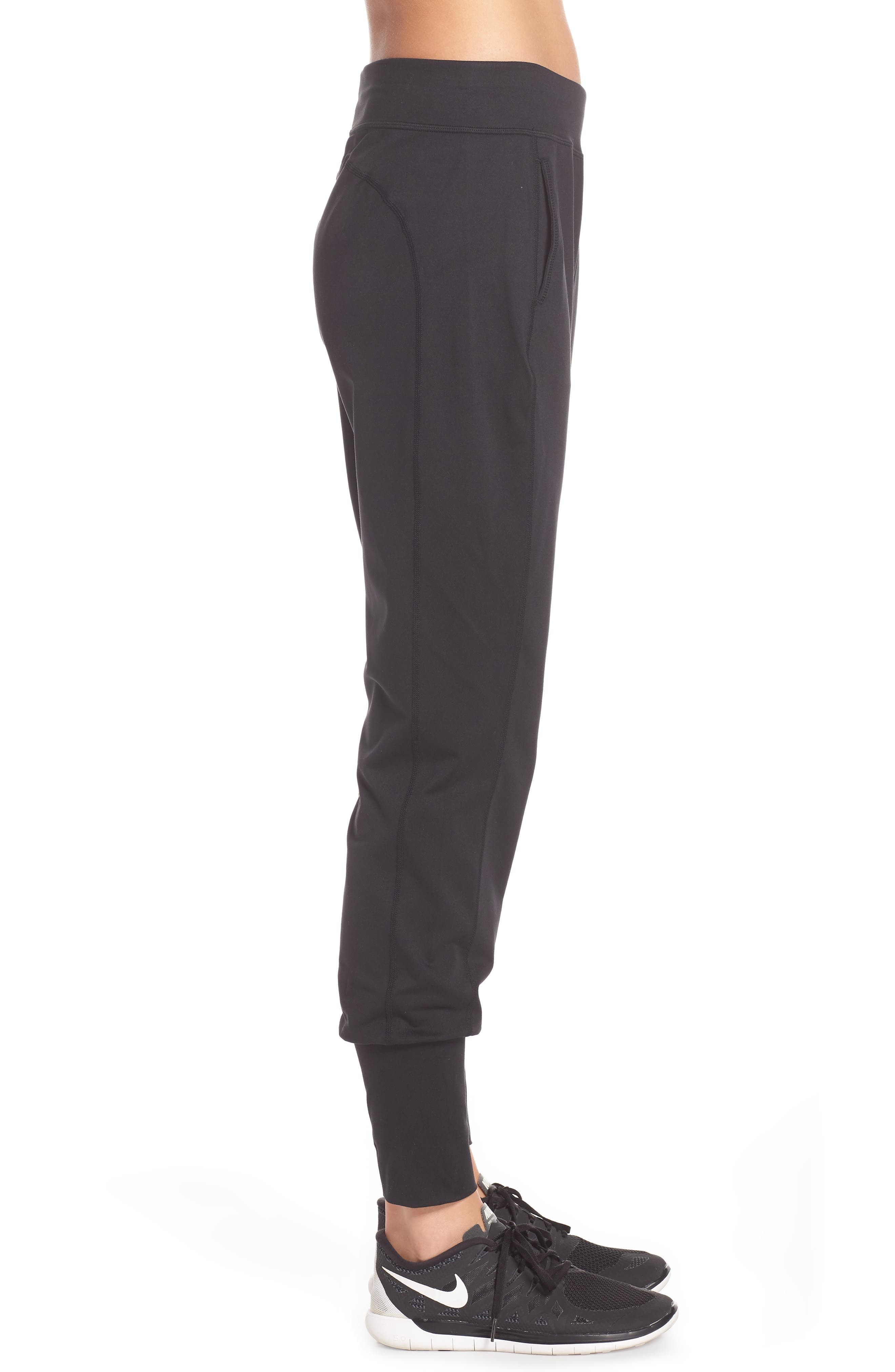 Garudasana Yoga Trousers,                             Alternate thumbnail 3, color,                             BLACK