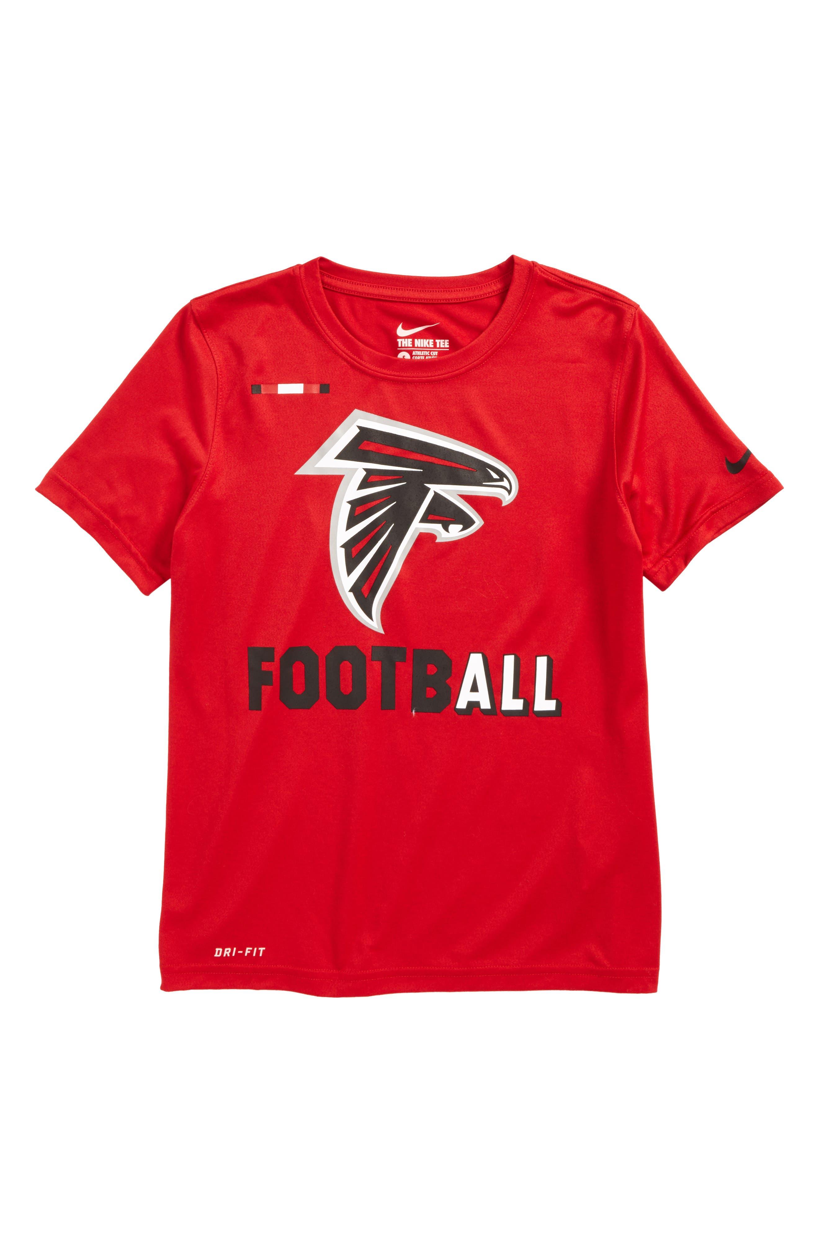Nike NFL Logo - Atlanta Falcons Dry T-Shirt,                             Main thumbnail 1, color,                             615