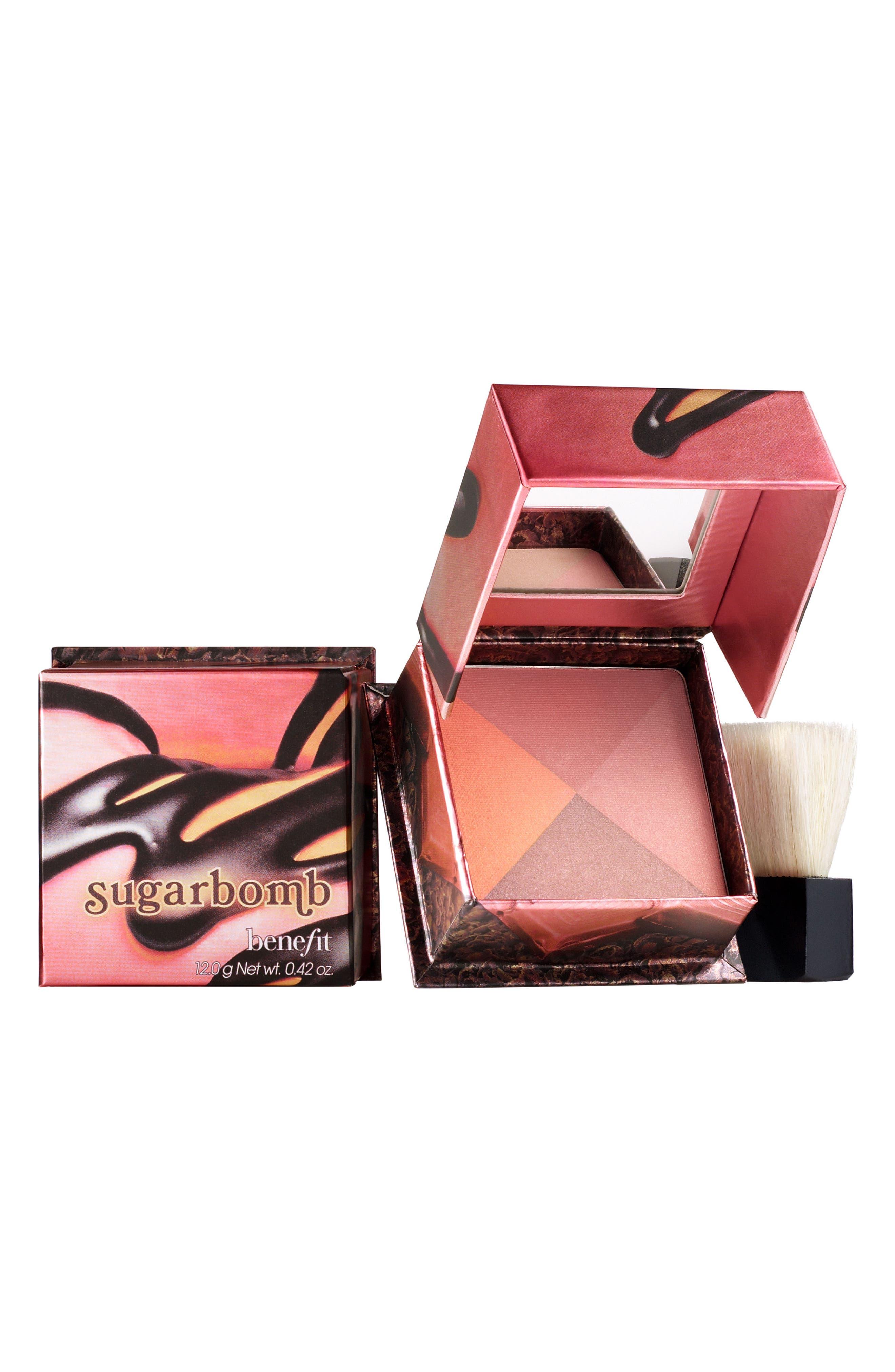Benefit Sugarbomb Shimmer Powder Blush,                             Main thumbnail 1, color,                             SUGAR RUSH FLUSH