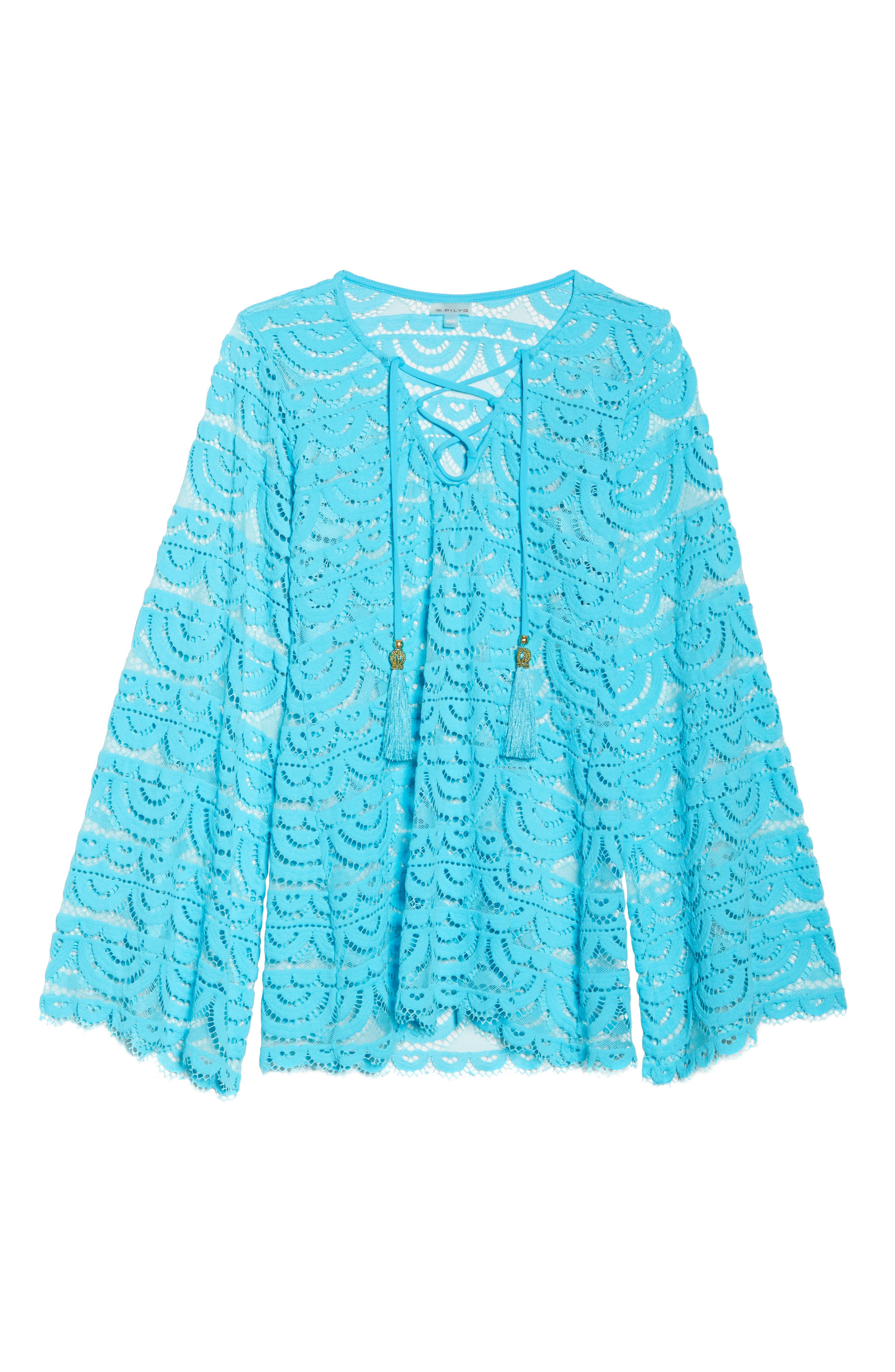 Noah Lace Cover-Up Tunic,                             Alternate thumbnail 6, color,