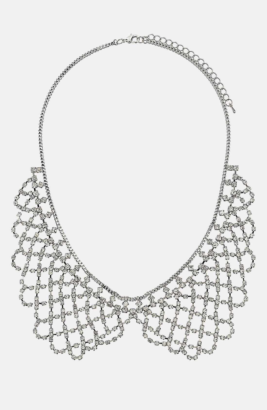 Rhinestone Peter Pan Collar Necklace,                             Main thumbnail 1, color,                             040