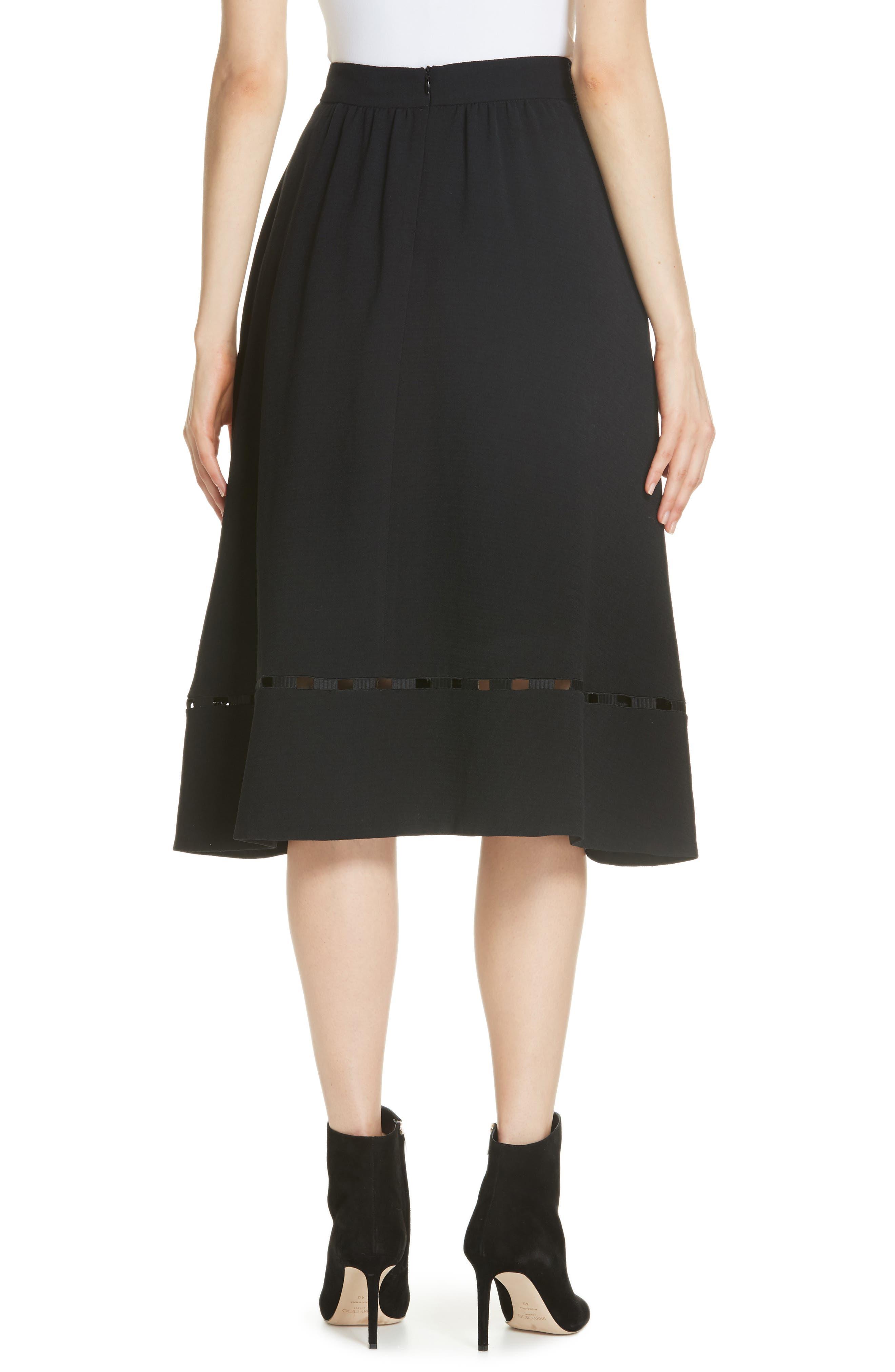 Carmen A-Line Skirt,                             Alternate thumbnail 2, color,                             NOIR
