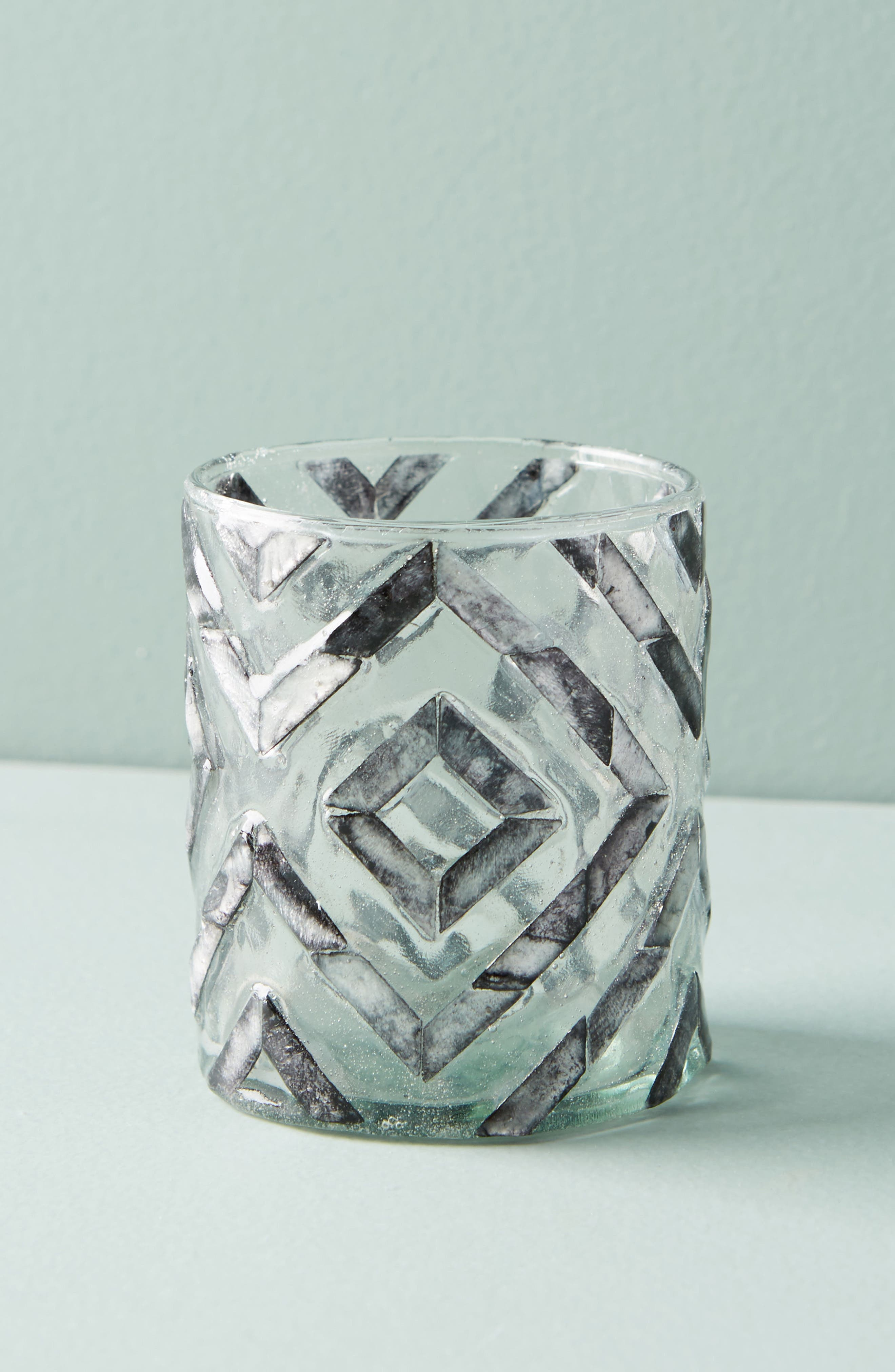 Herringbone Capiz Votive Candleholder,                             Alternate thumbnail 2, color,                             020