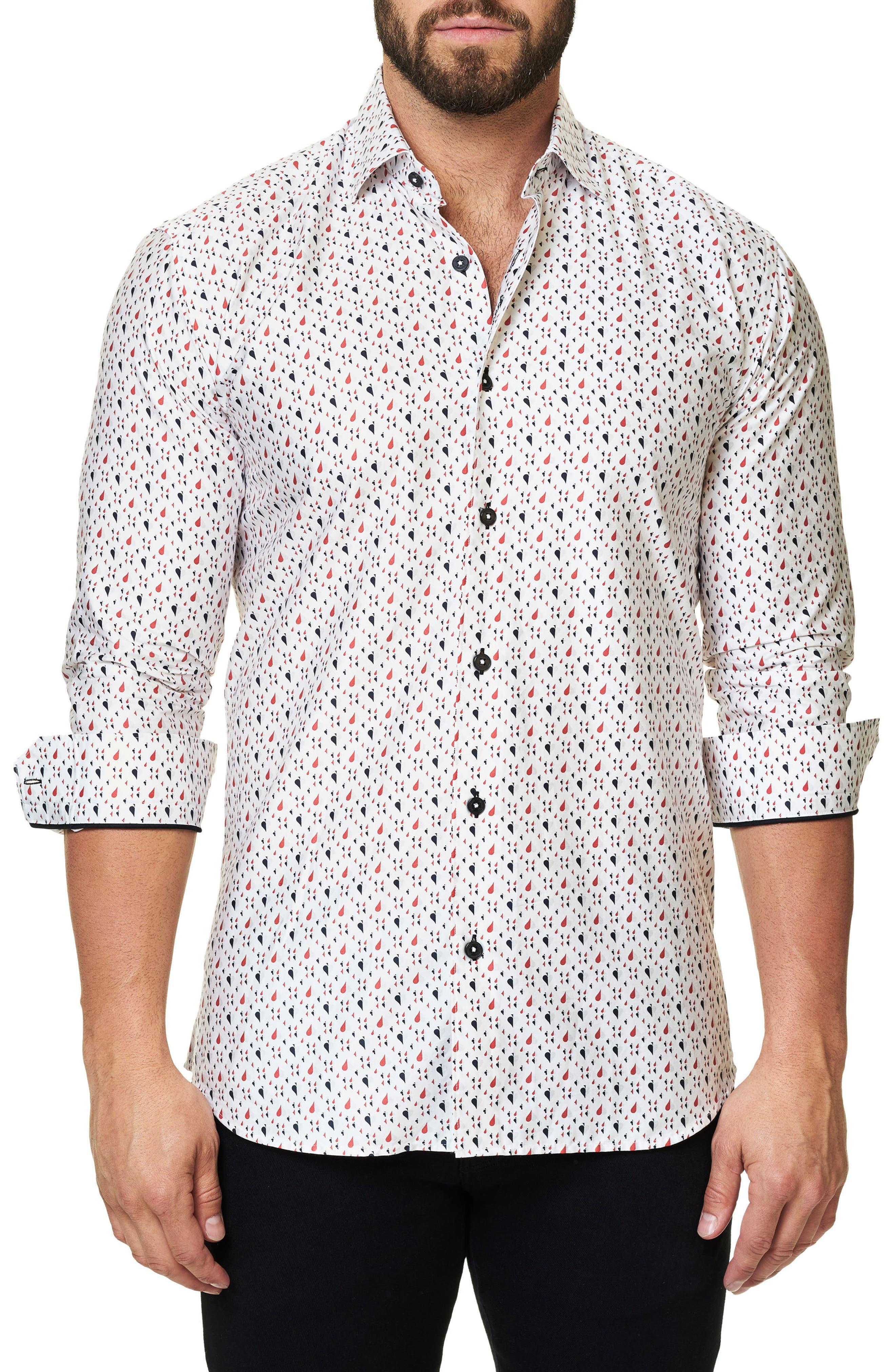Trim Fit Print Sport Shirt,                         Main,                         color, 114