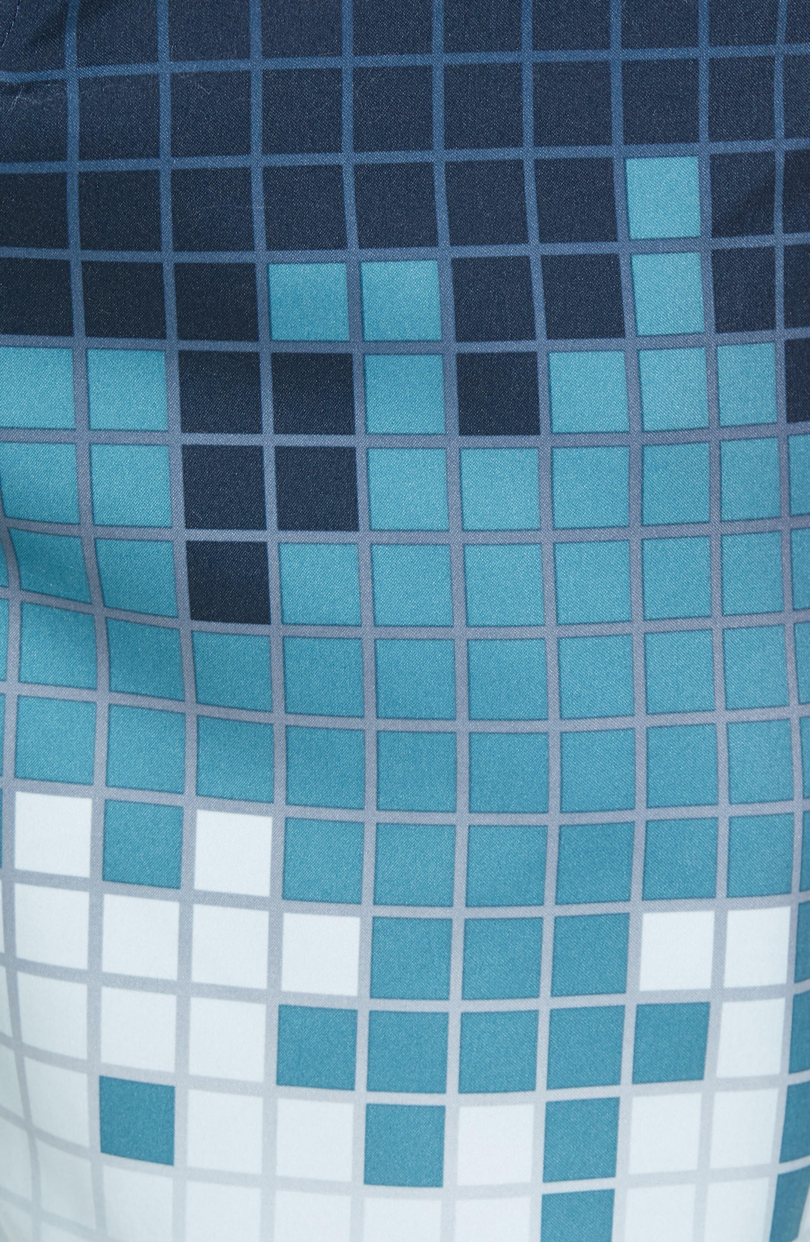 Digital Colorblock Swim Trunks,                             Alternate thumbnail 5, color,                             460