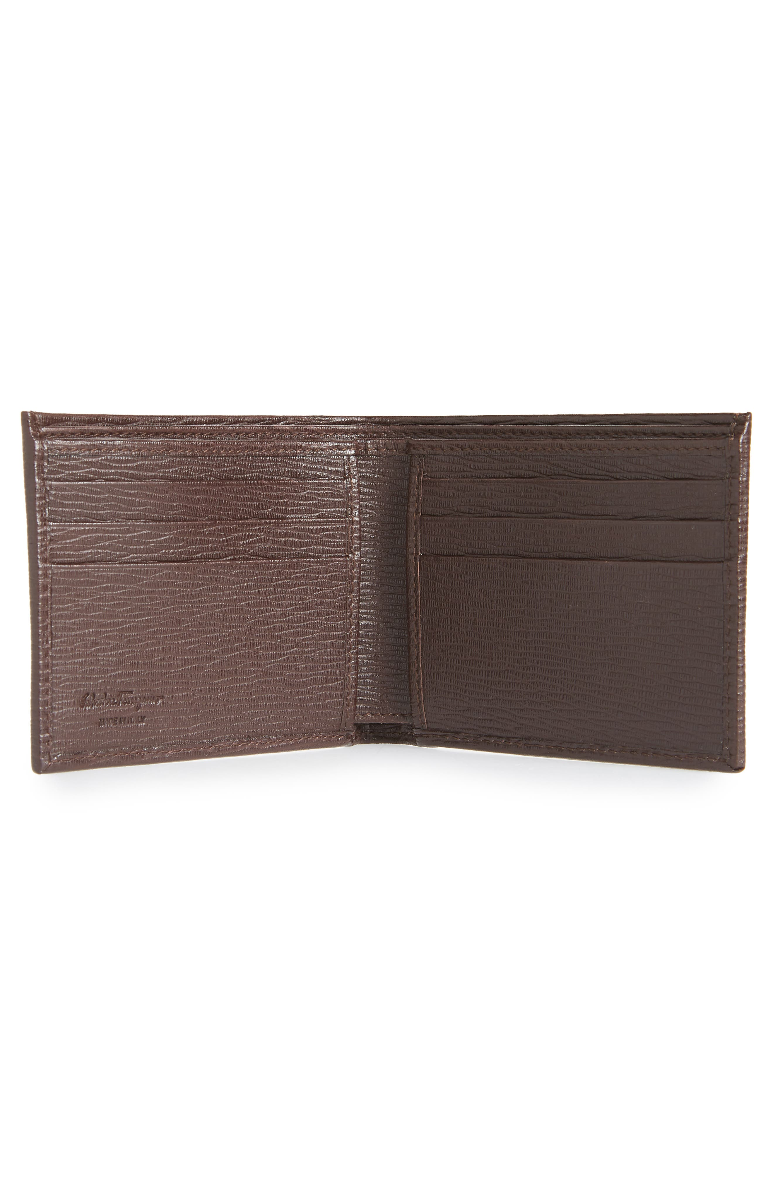Revival Gancio Bifold Leather Wallet,                             Alternate thumbnail 2, color,                             TOBACCO