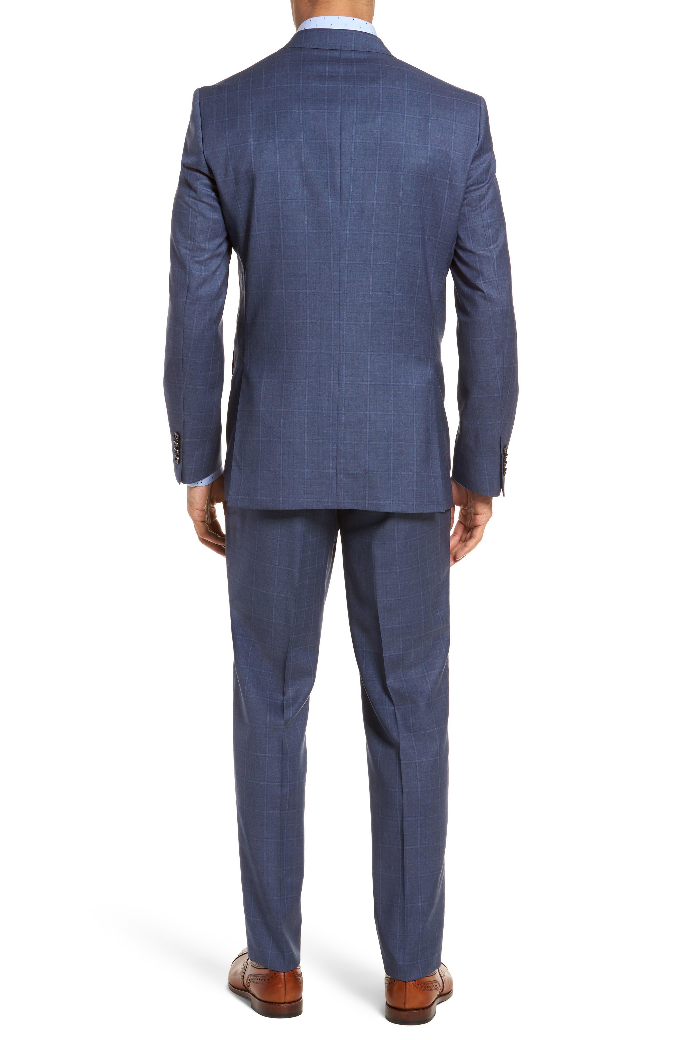 Jay Trim Fit Windowpane Wool Suit,                             Alternate thumbnail 2, color,                             420