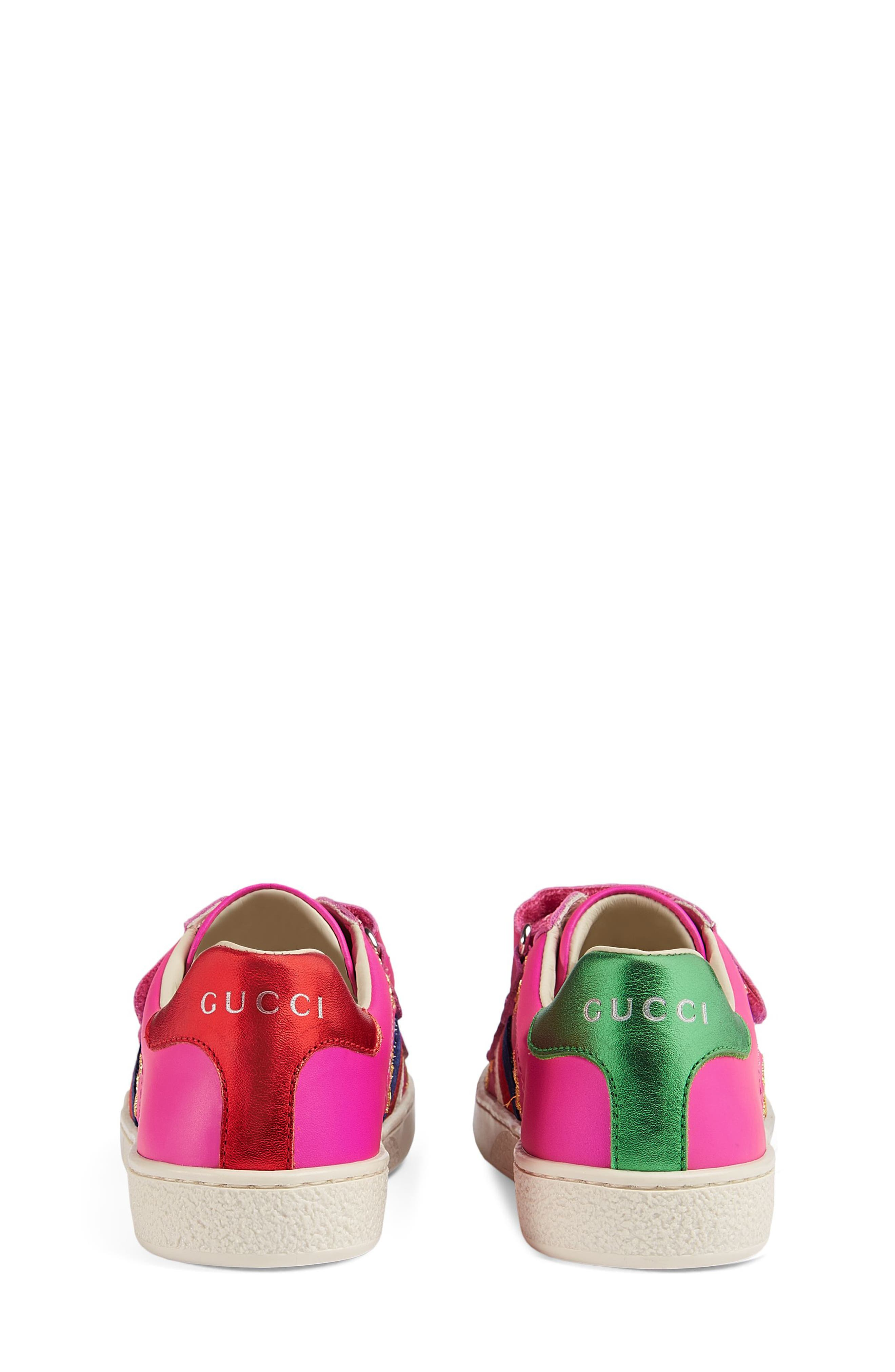 New Ace Embroidered Sneaker,                             Alternate thumbnail 2, color,                             PINK STAR
