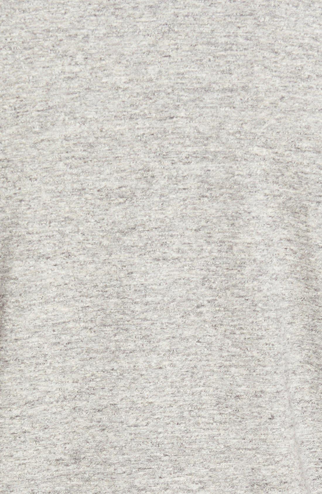 Double Face Jersey Pocket Crewneck T-Shirt,                             Alternate thumbnail 4, color,                             ANTI-GREY HEATHER