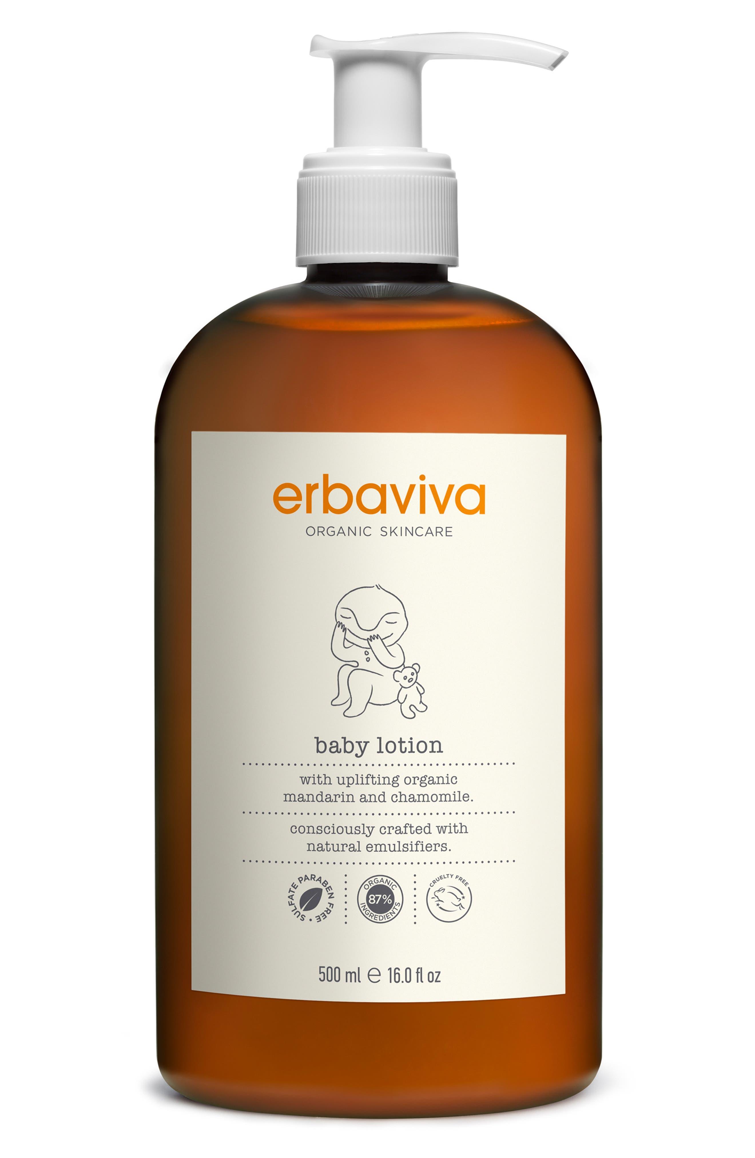 Erbaviva Baby Lotion Size 16 oz