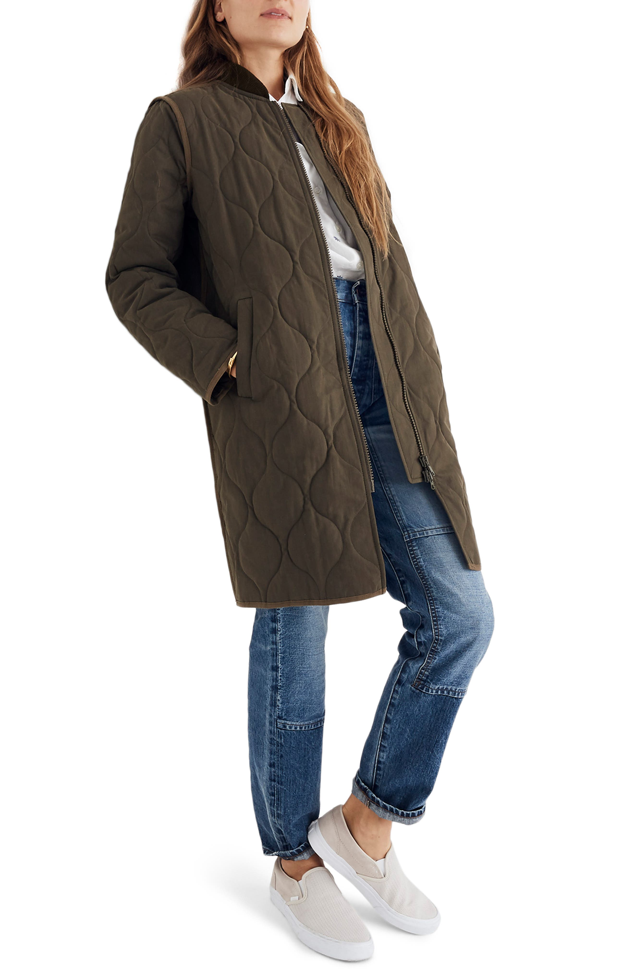 Quilted Military Coat,                         Main,                         color, 300