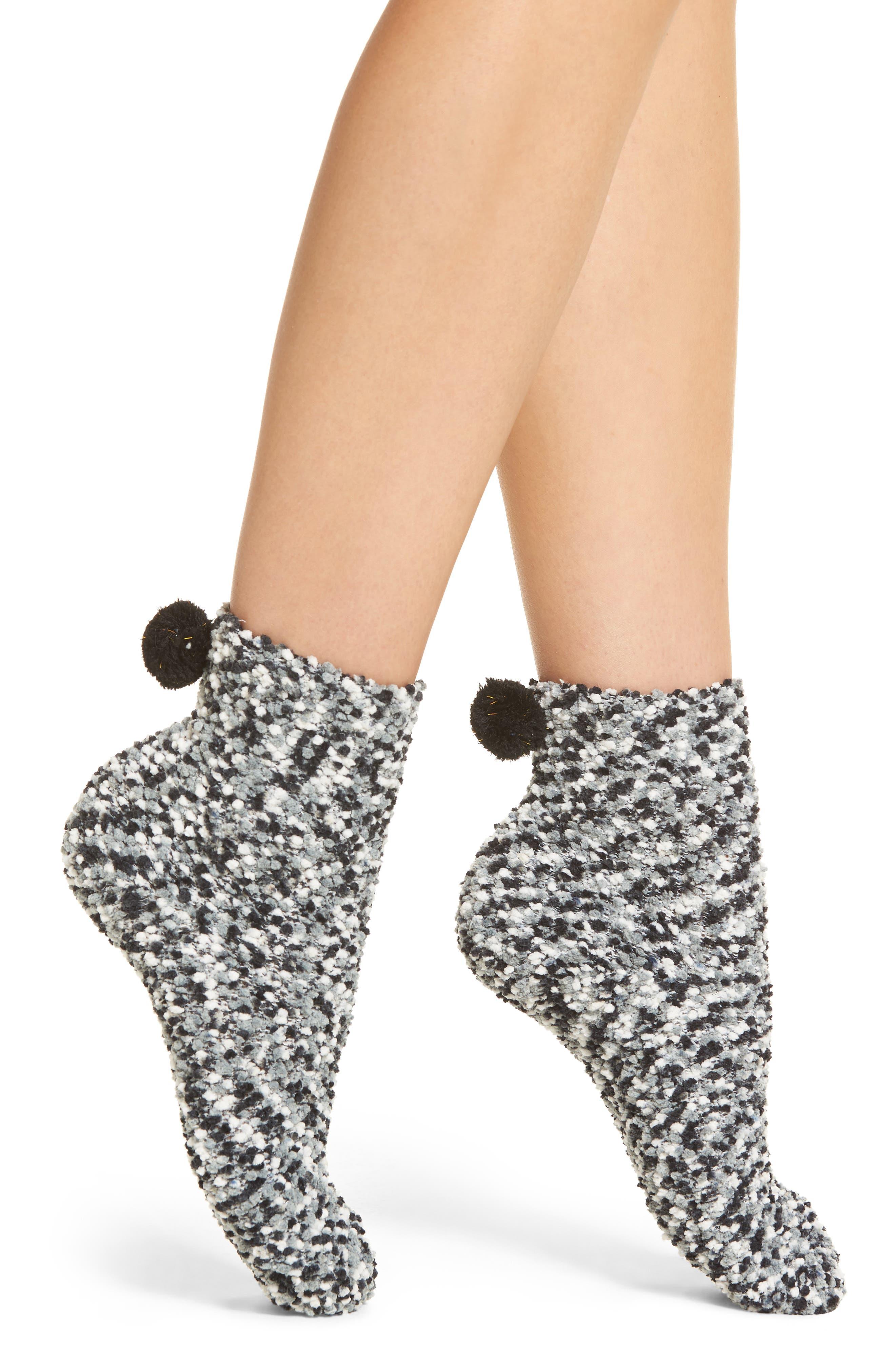 Pom Socks,                         Main,                         color, 001