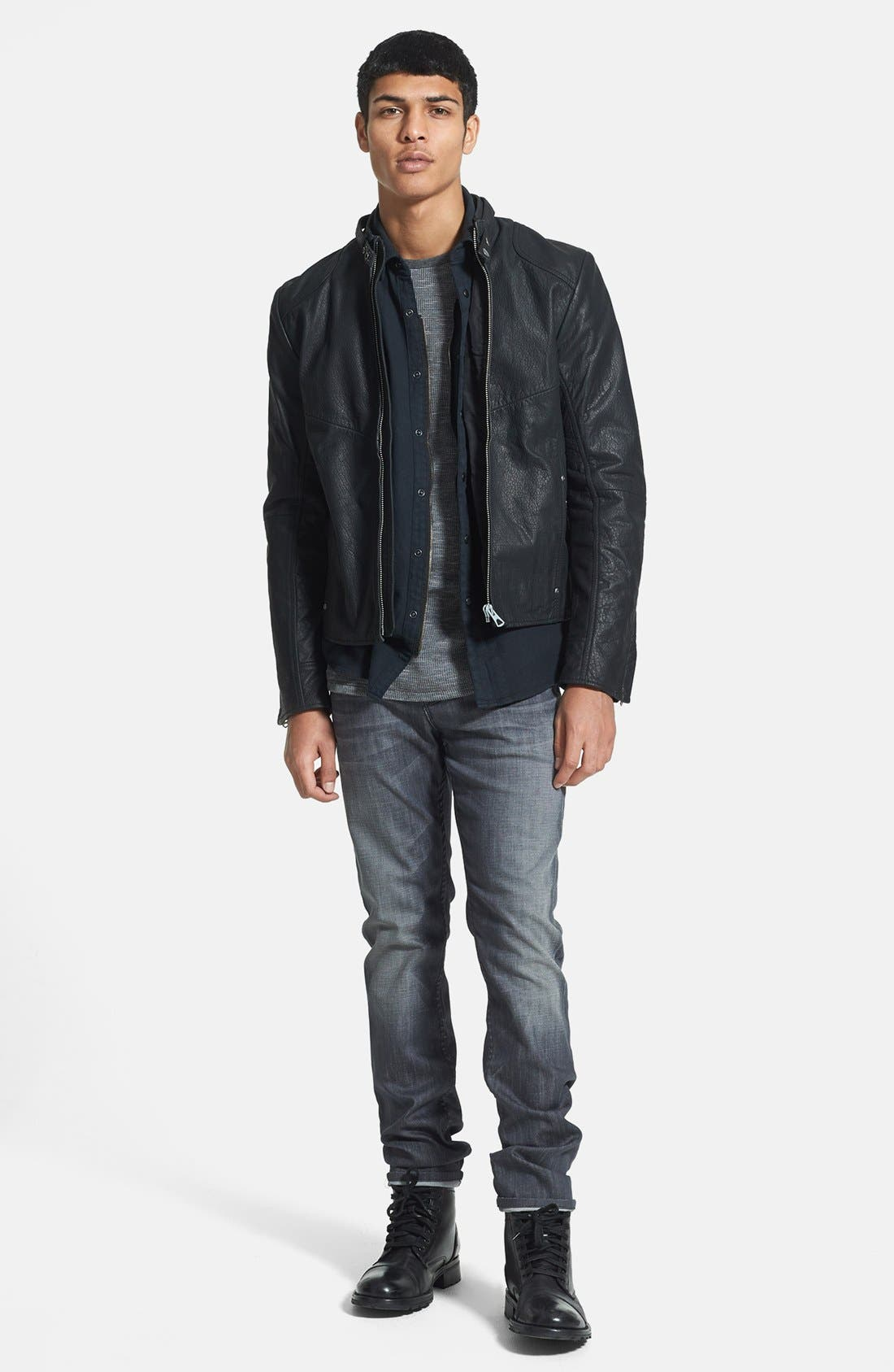 VOLCOM,                             'Upgrade' Slim Fit Long Sleeve Thermal Shirt,                             Alternate thumbnail 5, color,                             020