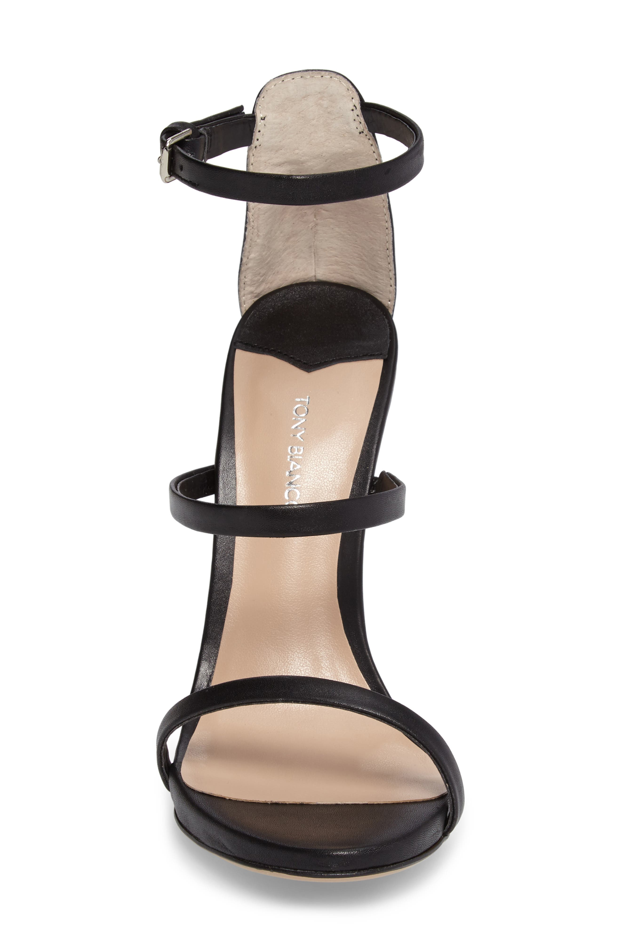 Atkins Sandal,                             Alternate thumbnail 4, color,                             BLACK CAPRETTO LEATHER