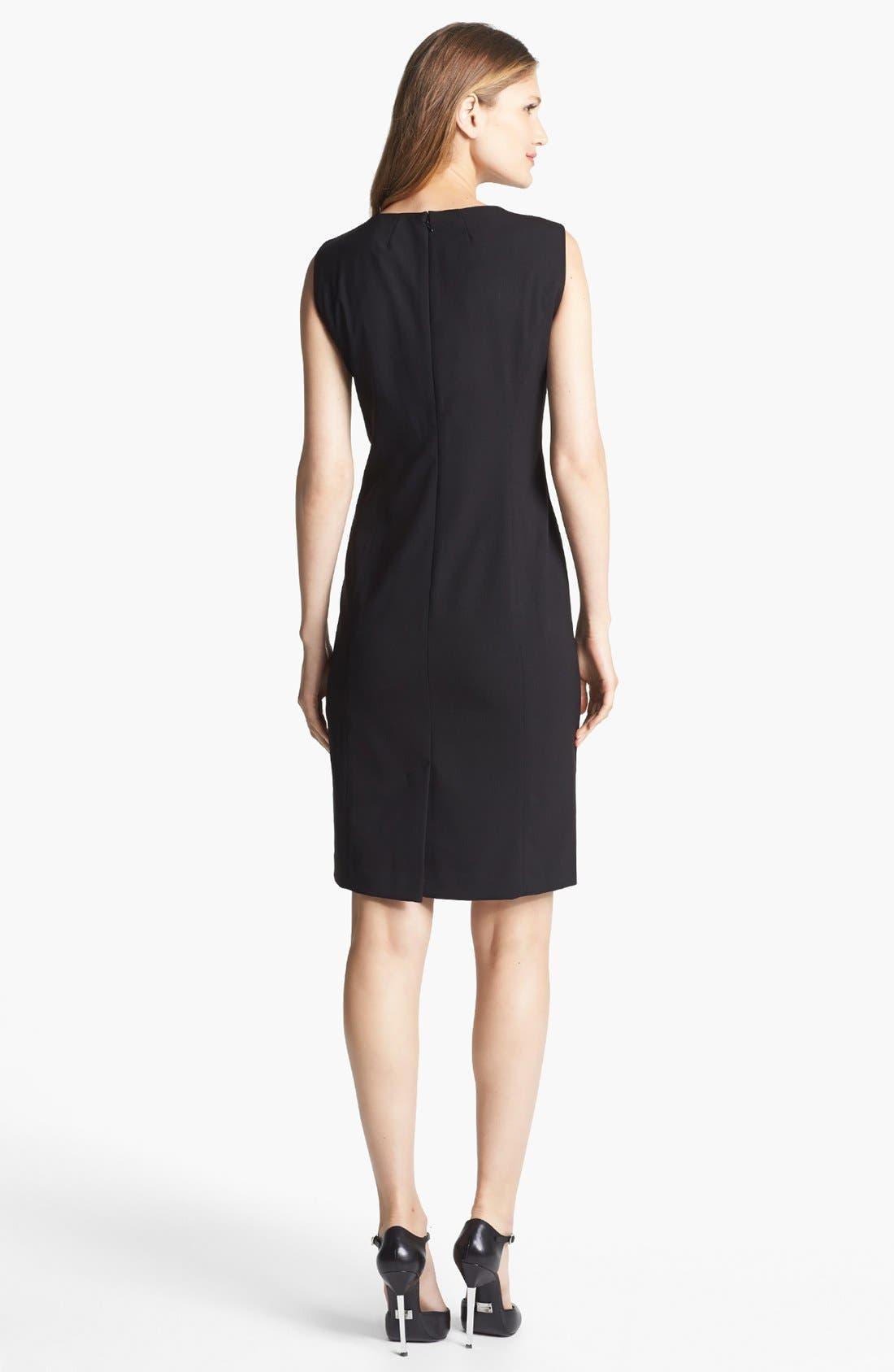 'Mallory' All Season Stretch Sheath Dress,                             Alternate thumbnail 2, color,                             001