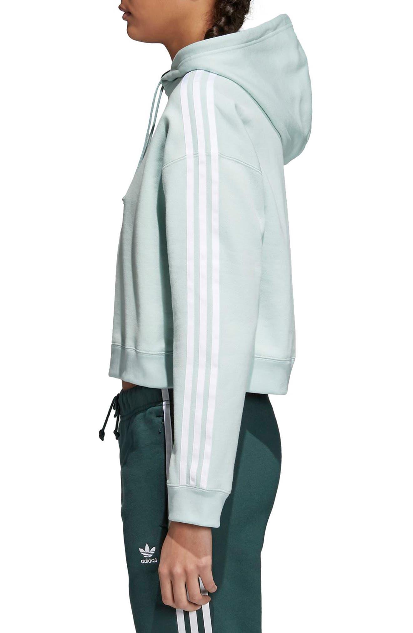 adidas Crop Hoodie,                             Alternate thumbnail 3, color,                             339