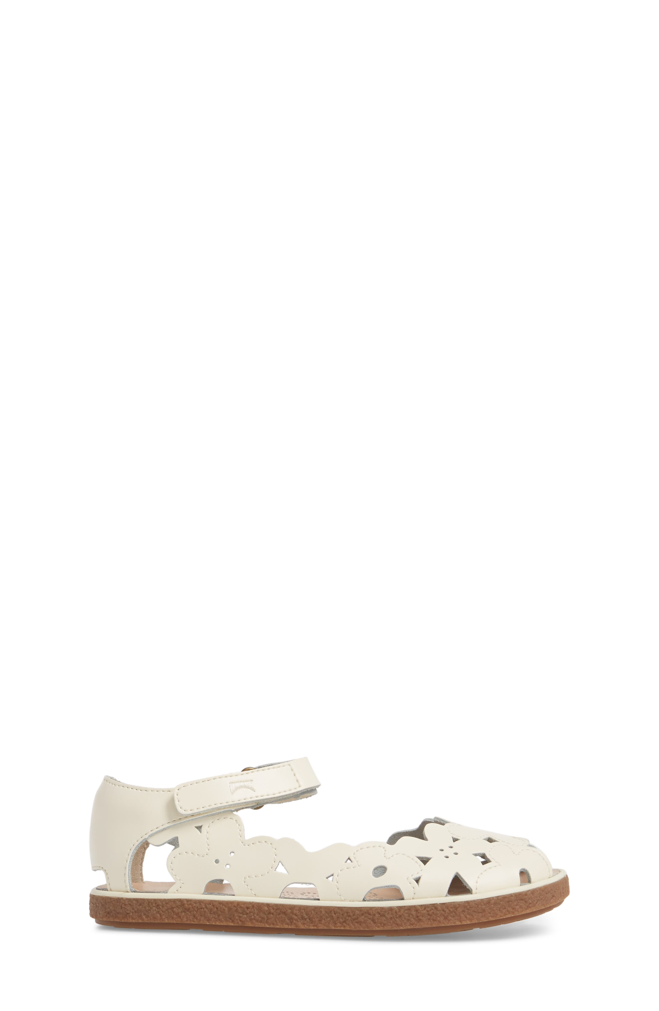 Twins Perforated Sandal,                             Alternate thumbnail 3, color,                             WHITE