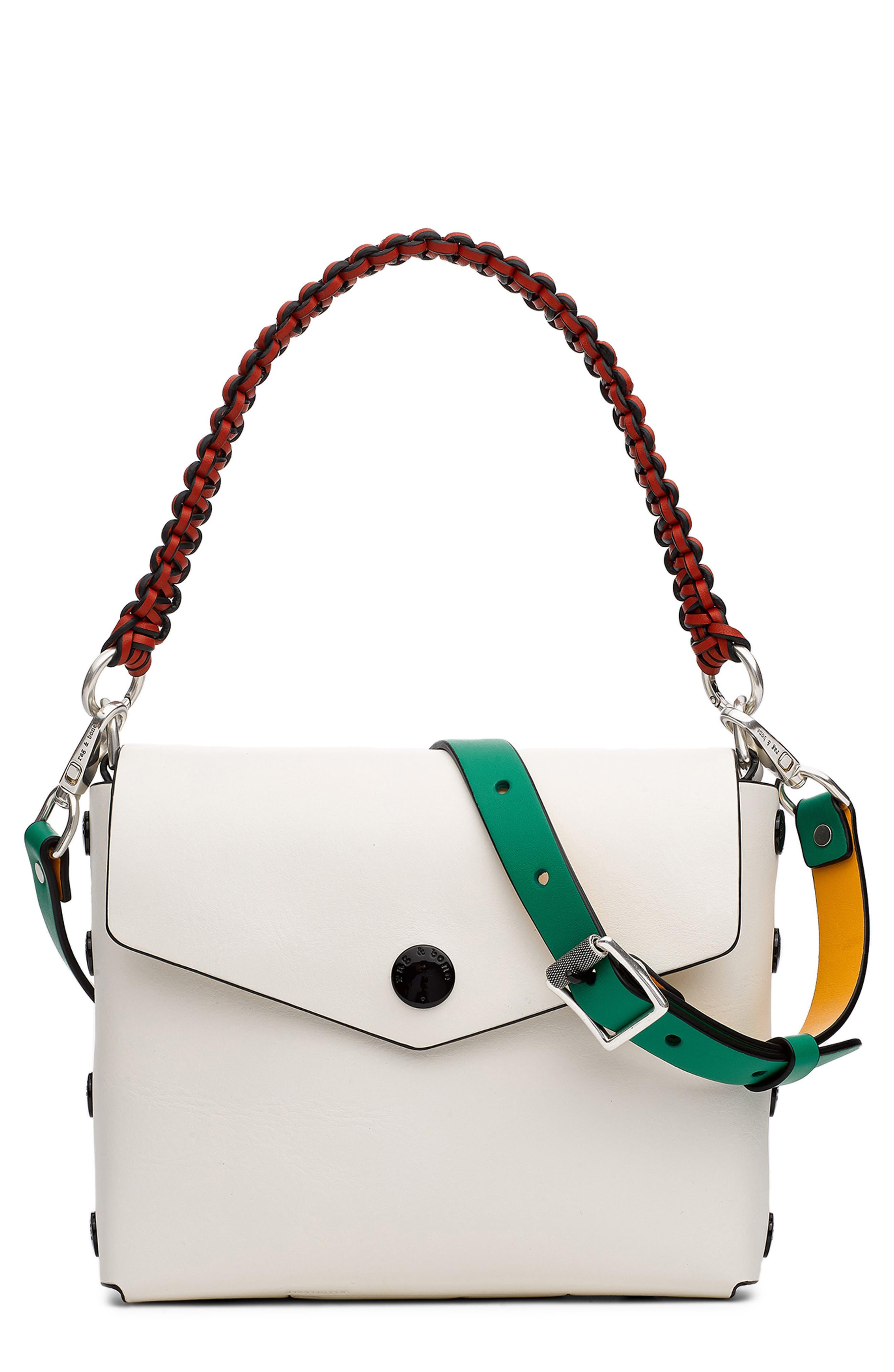Atlas Suede Shoulder Bag, Main, color, WHITE MULTI