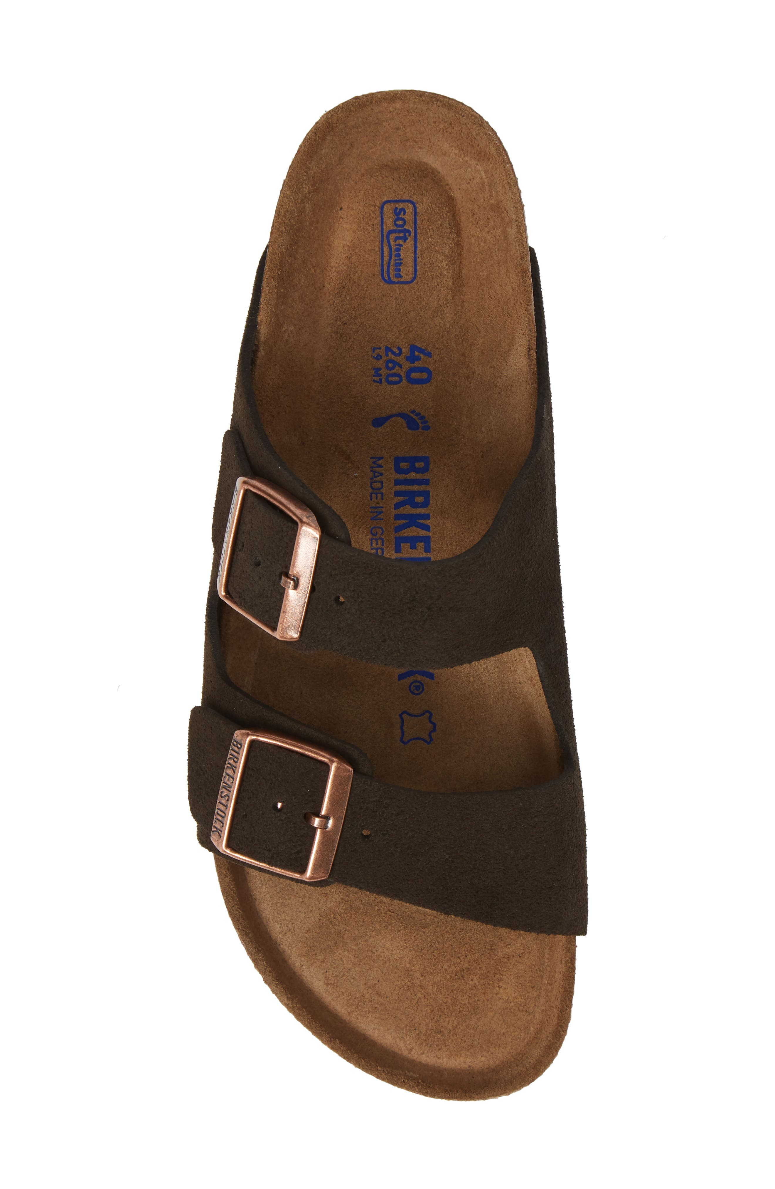 'Arizona' Soft Footbed Suede Sandal,                             Alternate thumbnail 5, color,                             MOCHA SUEDE