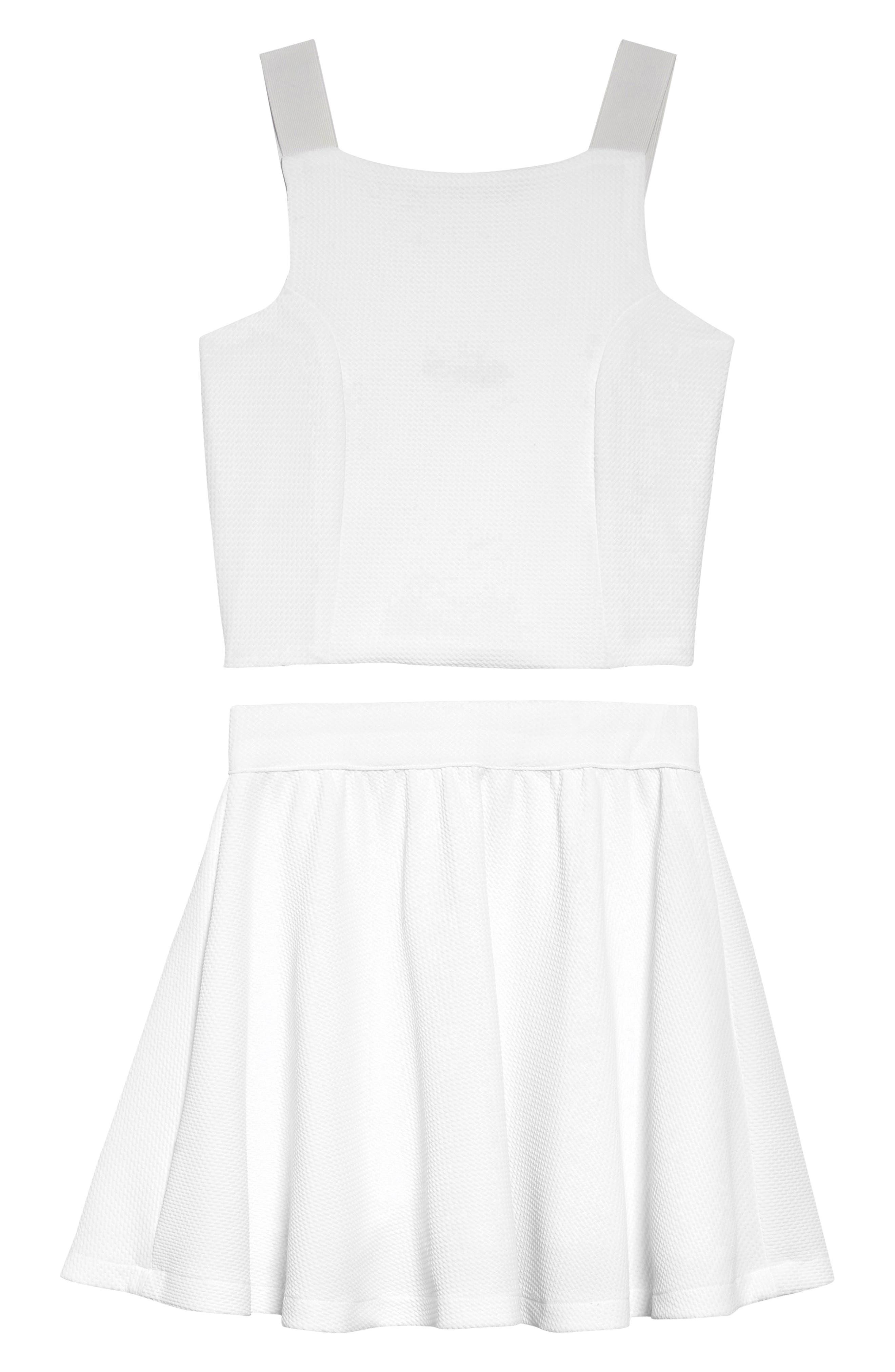 Stella M'Lia Two-Piece Dress,                         Main,                         color, WHITE