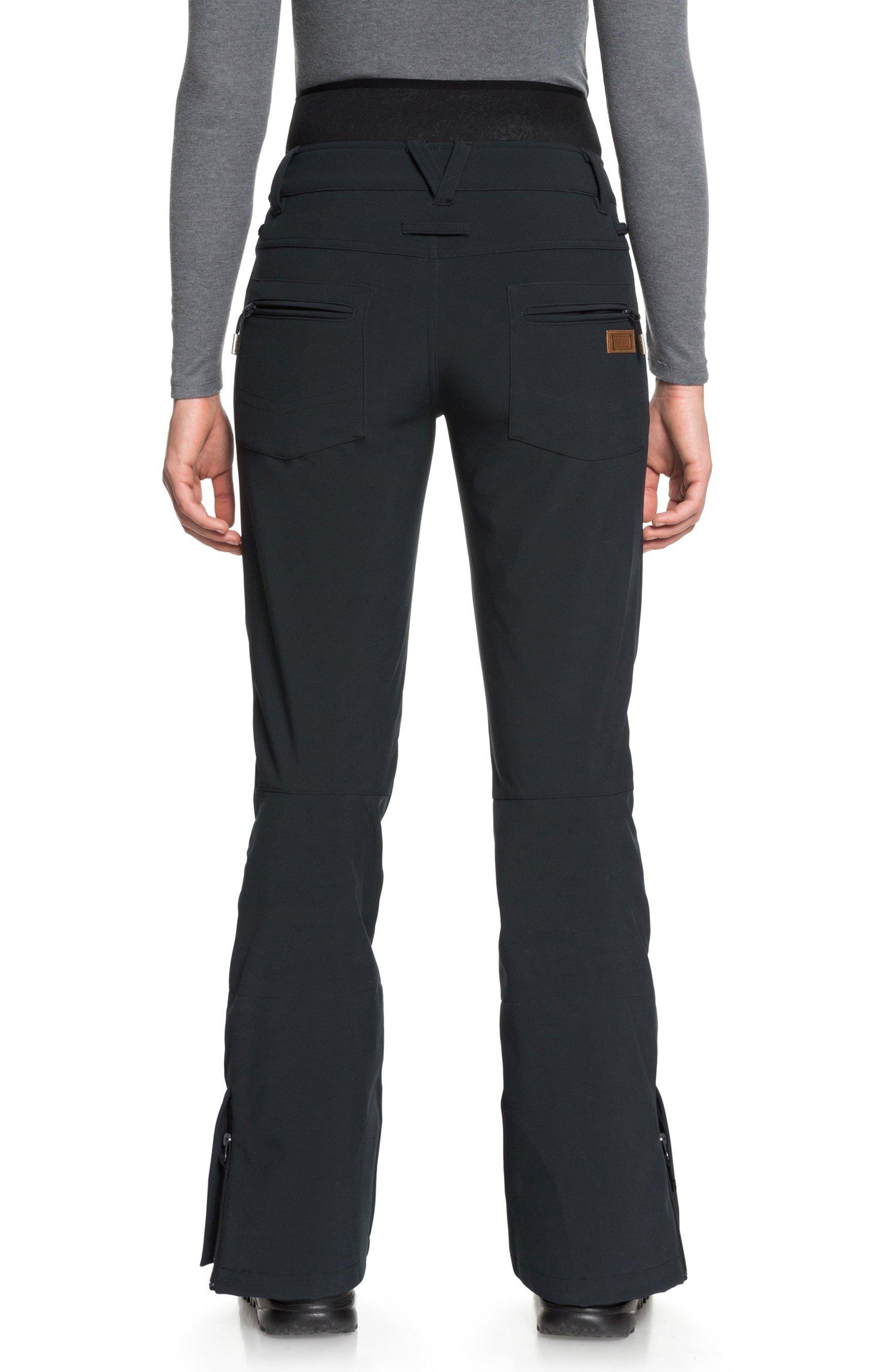 Rising High Snow Pants,                             Alternate thumbnail 2, color,                             TRUE BLACK