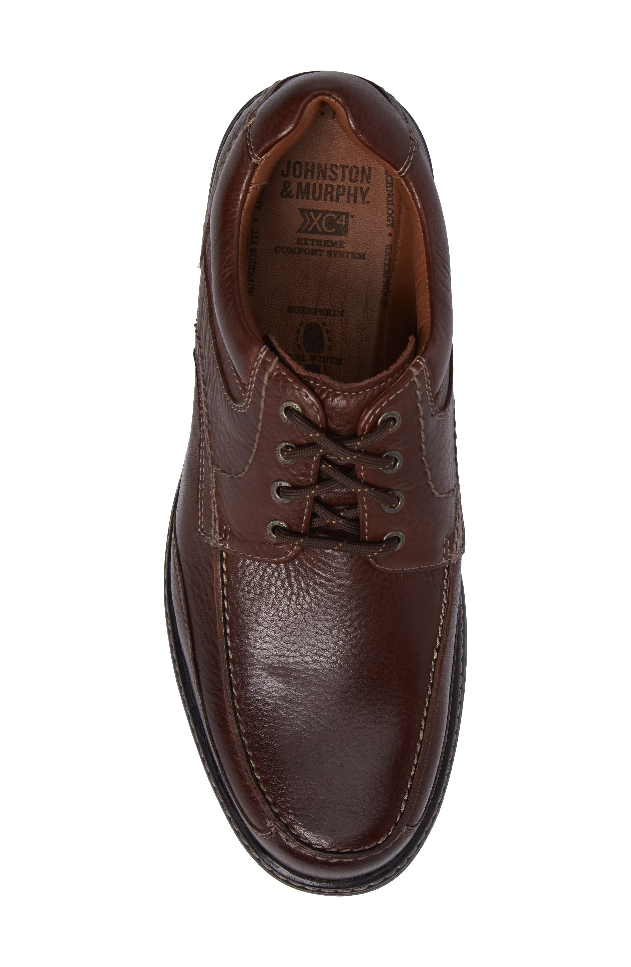 Windham Waterproof Moc Toe Derby,                             Alternate thumbnail 5, color,                             MAHOGANY